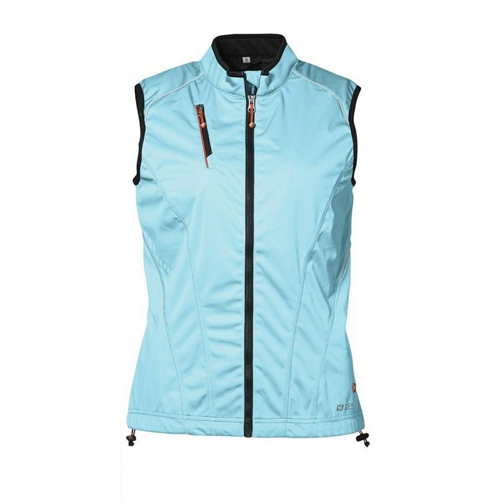 Id womens ladies softshell running vest jacket ebay for Women s fishing vest
