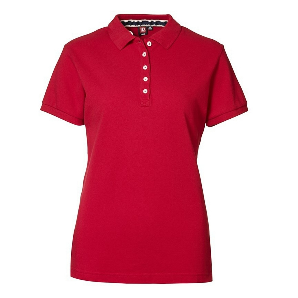 Id Womens Ladies Casual Pique Short Sleeve Polo Shirt