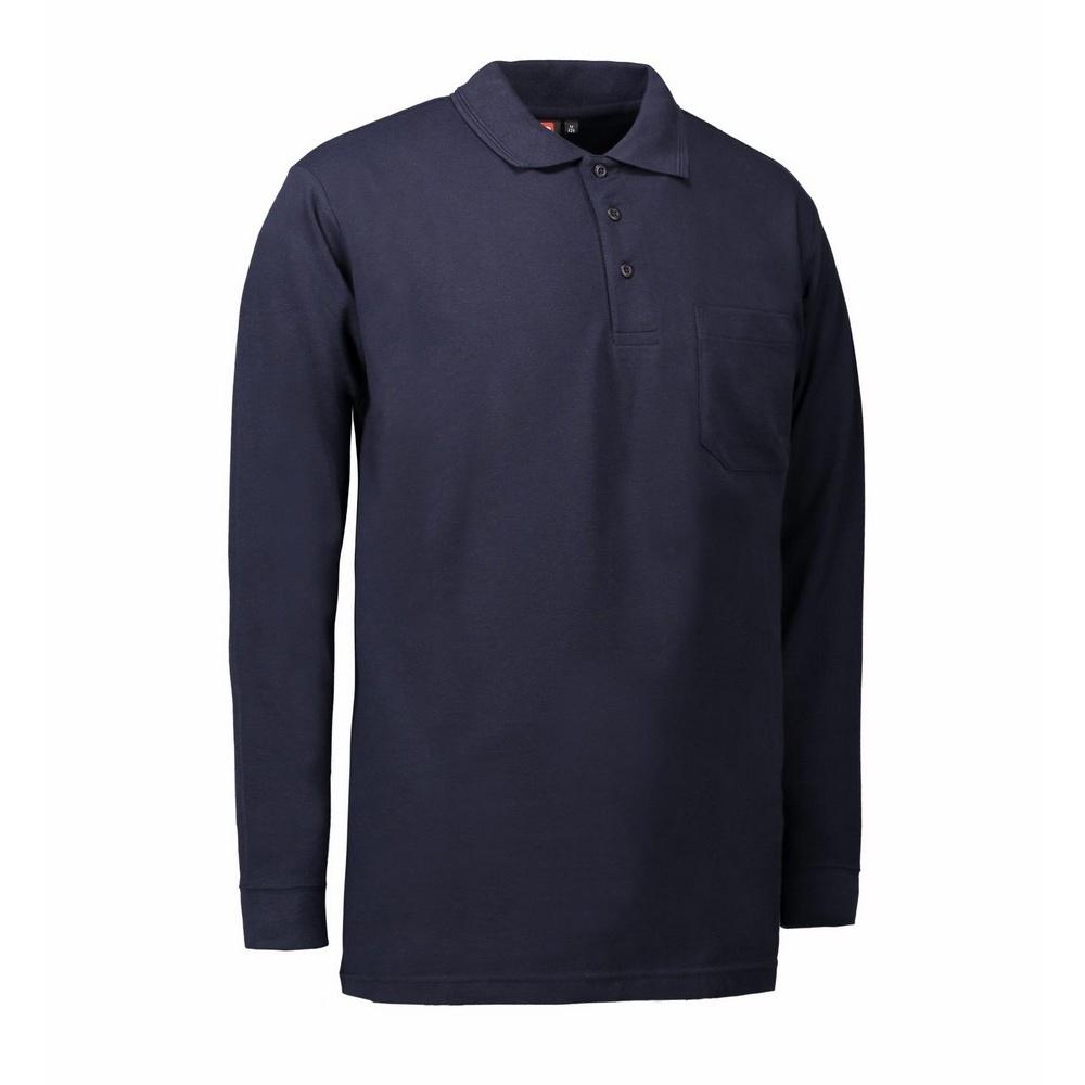 Id Mens Pro Wear Pocket Long Sleeve Polo Shirt Ebay
