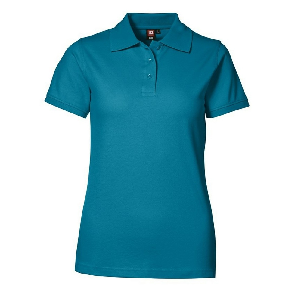 Id Womens Ladies Stretch Pique Short Sleeve Polo Shirt Ebay