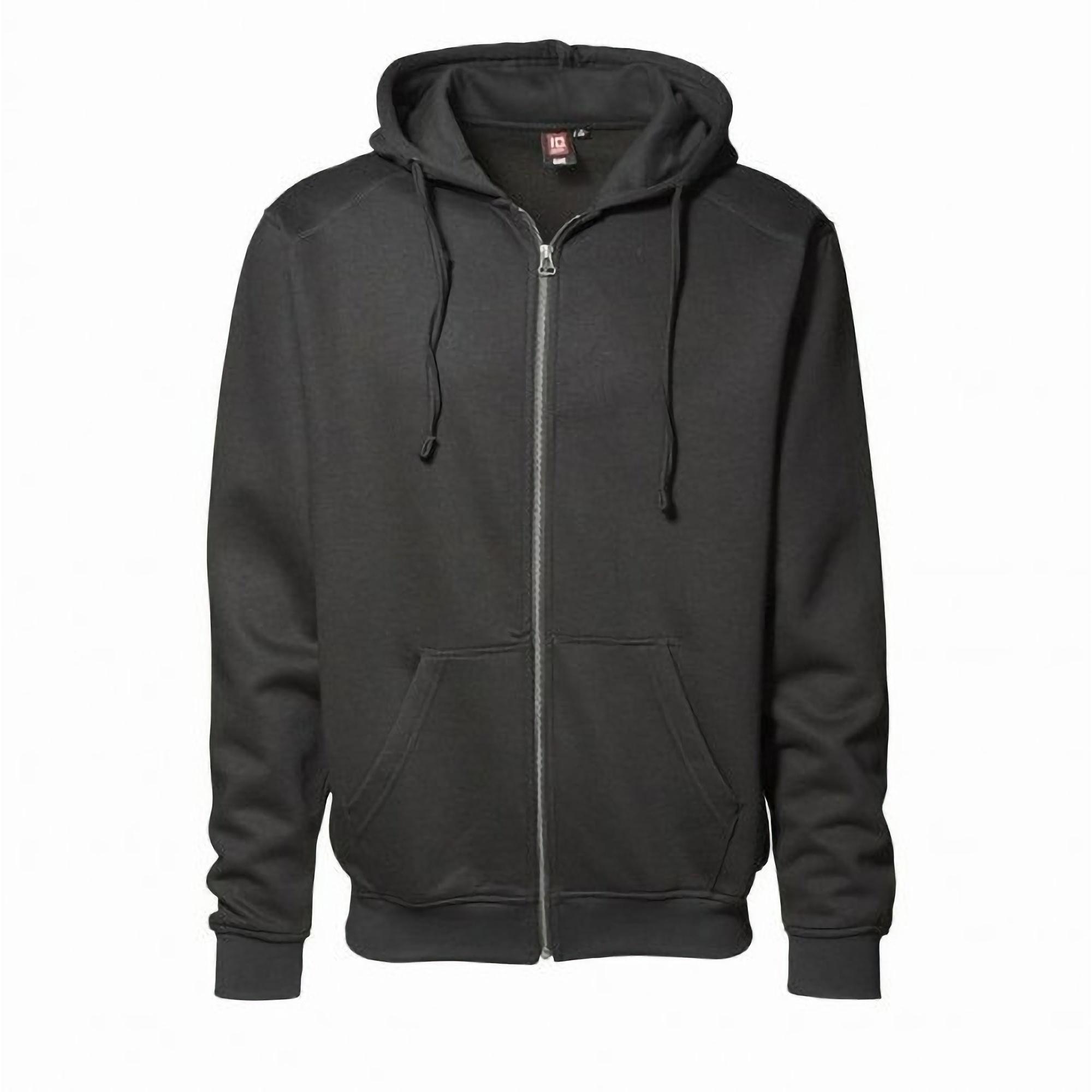 ID Mens Full Zip Hooded Sweatshirt / Hoodie | eBay