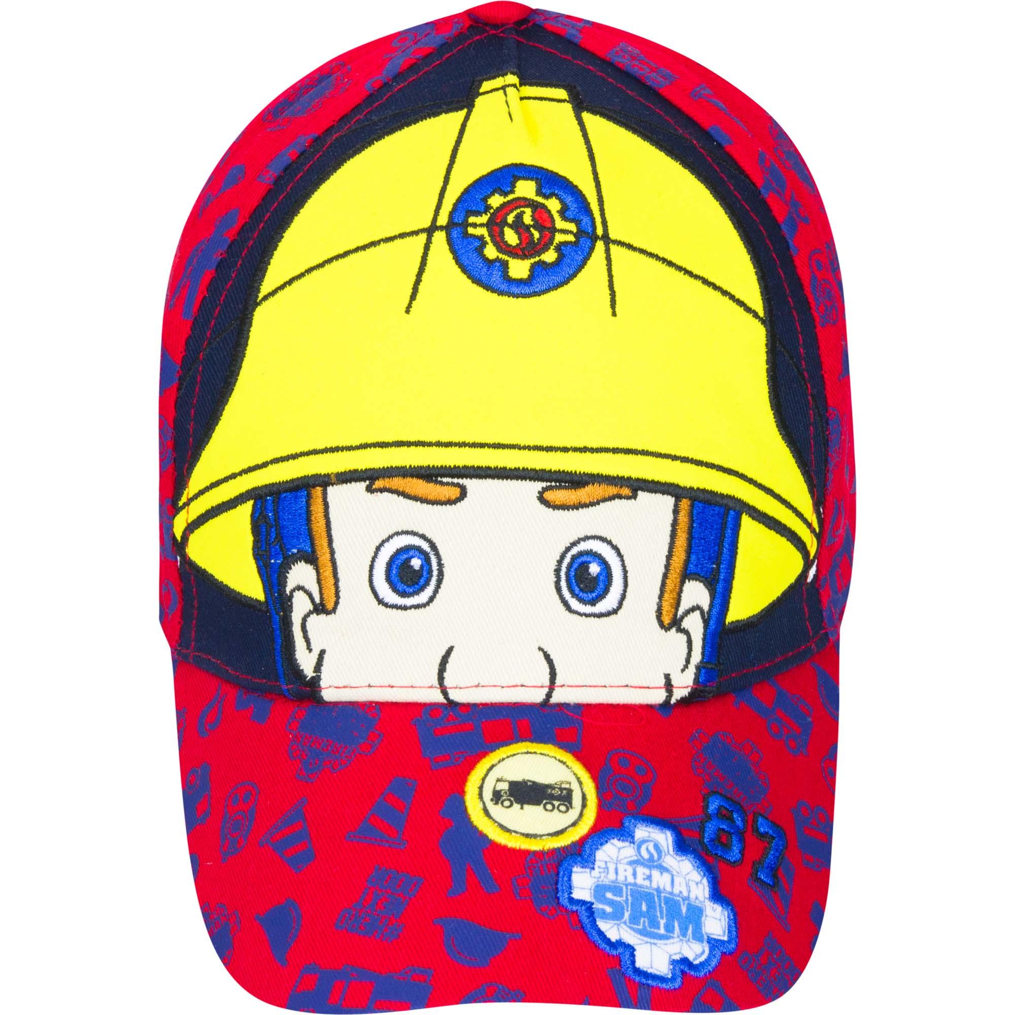 Fireman Sam Childrens//Kids Eyes And Helmet Baseball Cap KC641