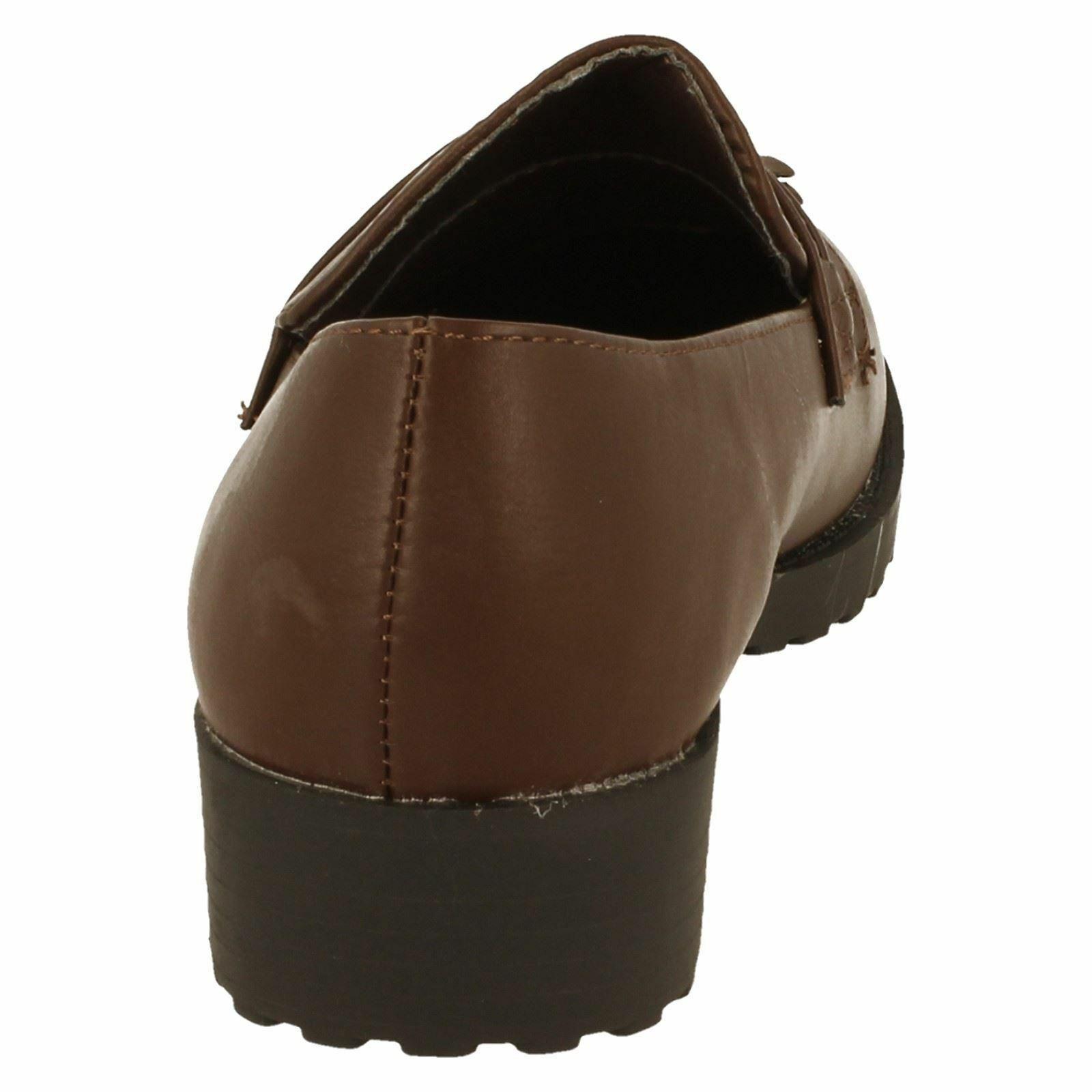 Spot On Childrens Girls Casual Tassel Trim Flat Loafers KM611
