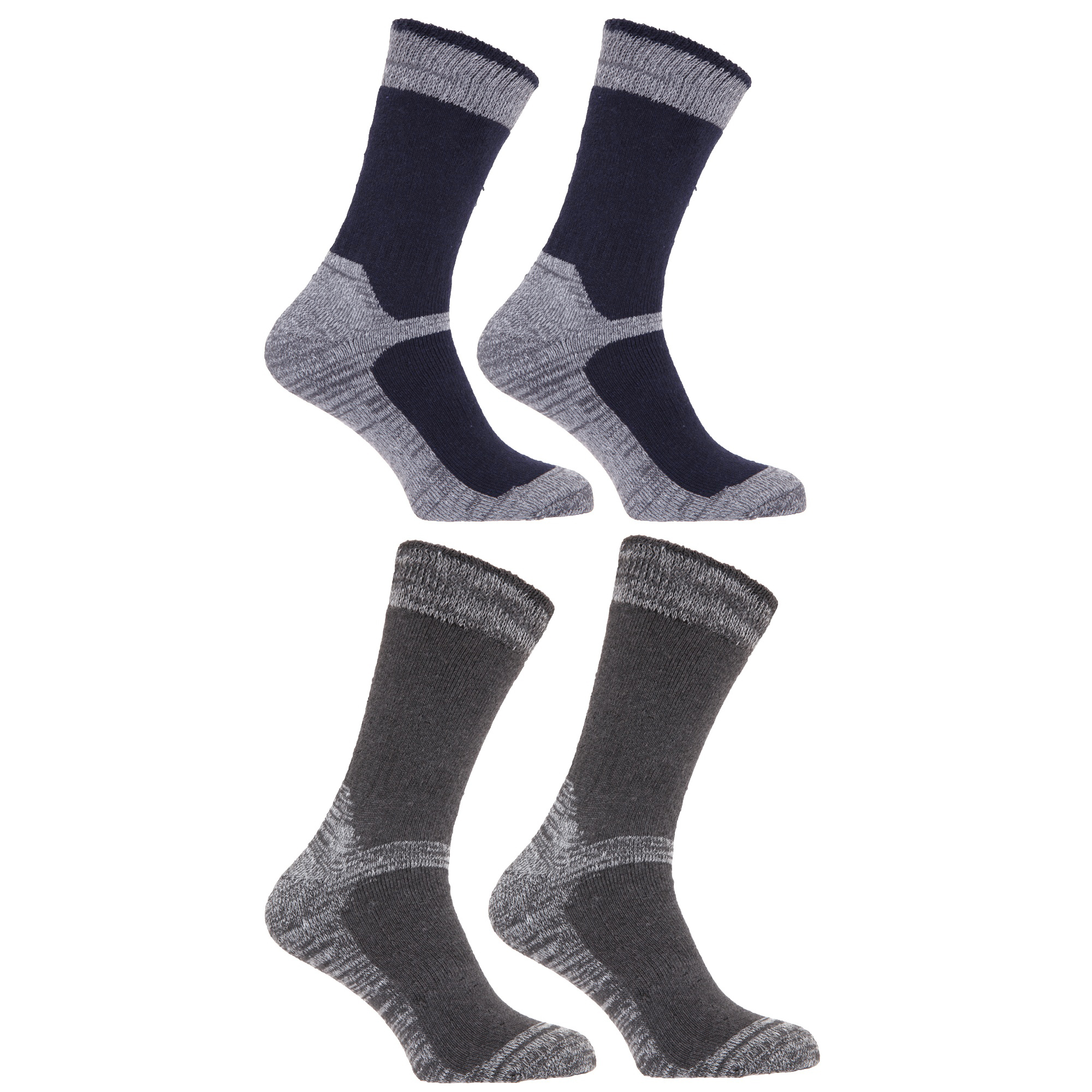 mens heavy weight reinforced toe work boot socks pack of 4