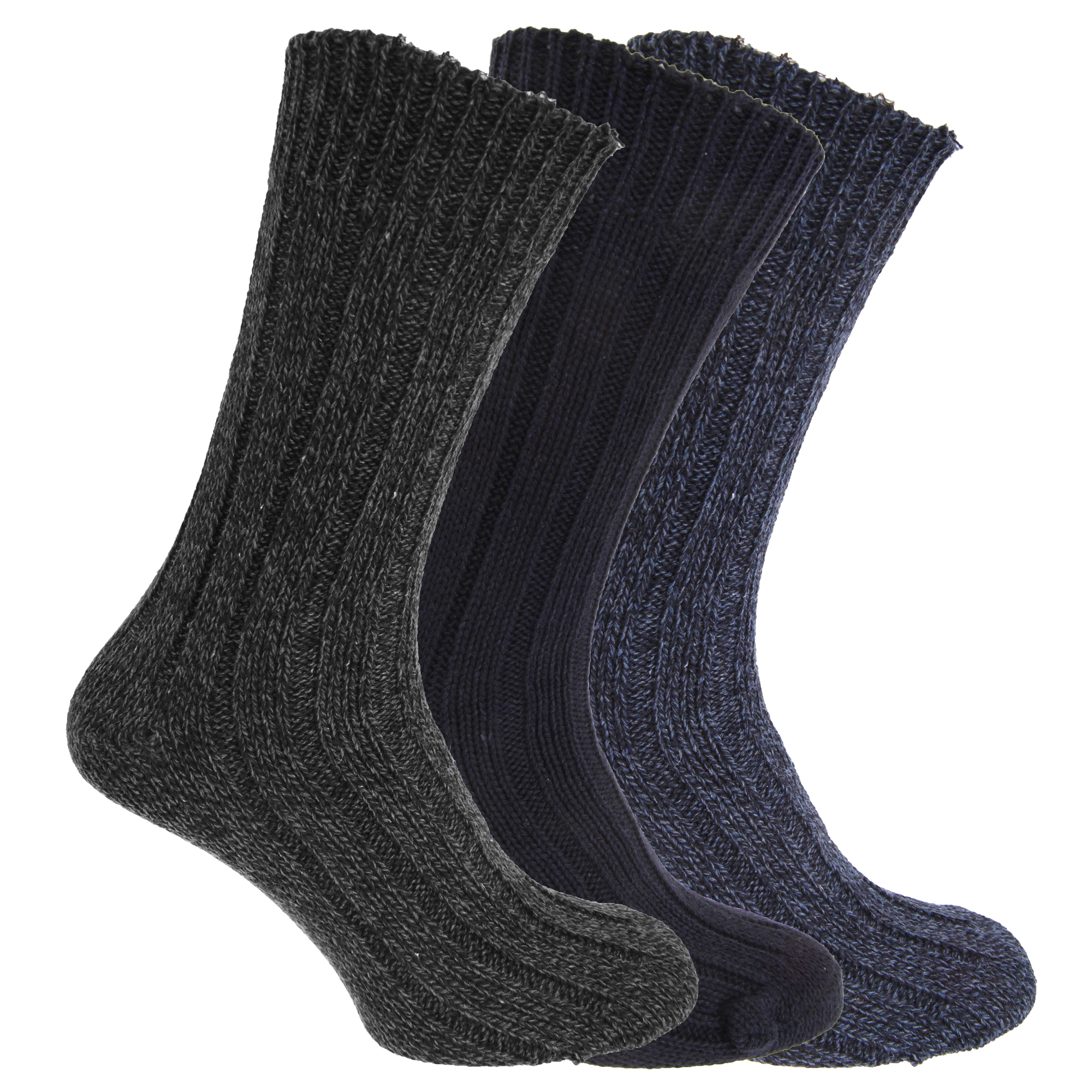 mens wool blend boot socks pack of 3 us 7 12