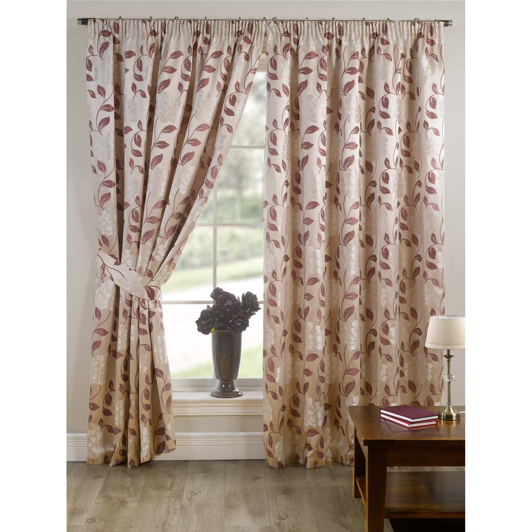 Drapes and curtains seattle - About davina fully lined ready made floral patterned curtains drapes