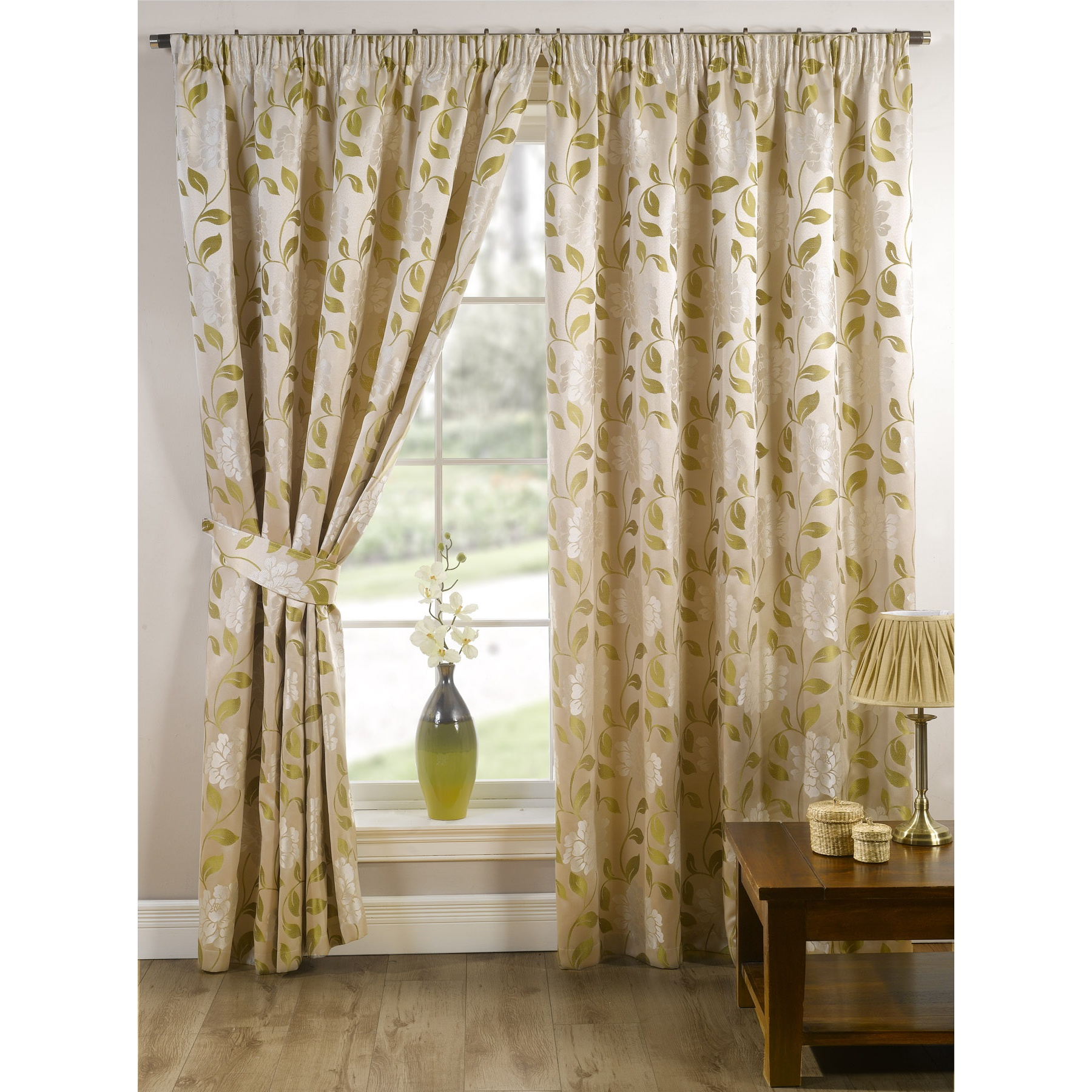 Davina Fully Lined Ready Made Floral Patterned Curtains Drapes Ebay