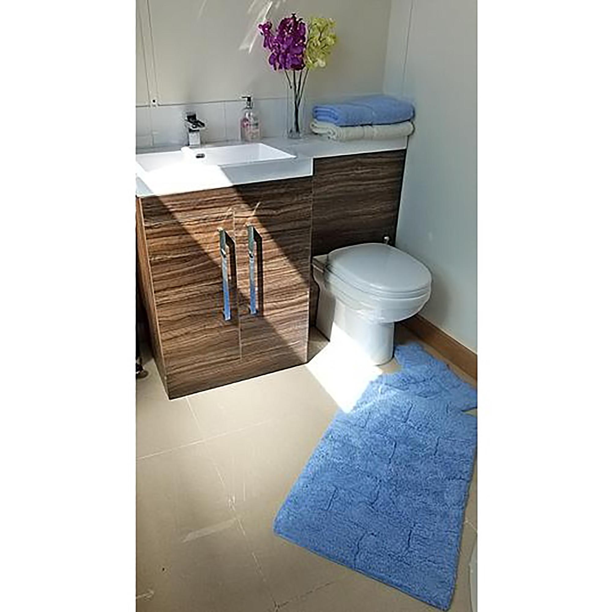 Set tappeti da bagno 100 cotone 2 pezzi ebay - Set tappeti per bagno ...