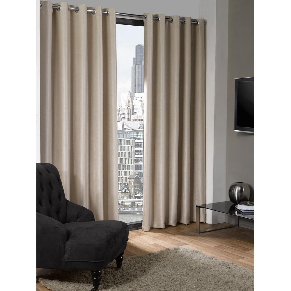 logan blackout plain thermal curtains with eyelets ebay. Black Bedroom Furniture Sets. Home Design Ideas