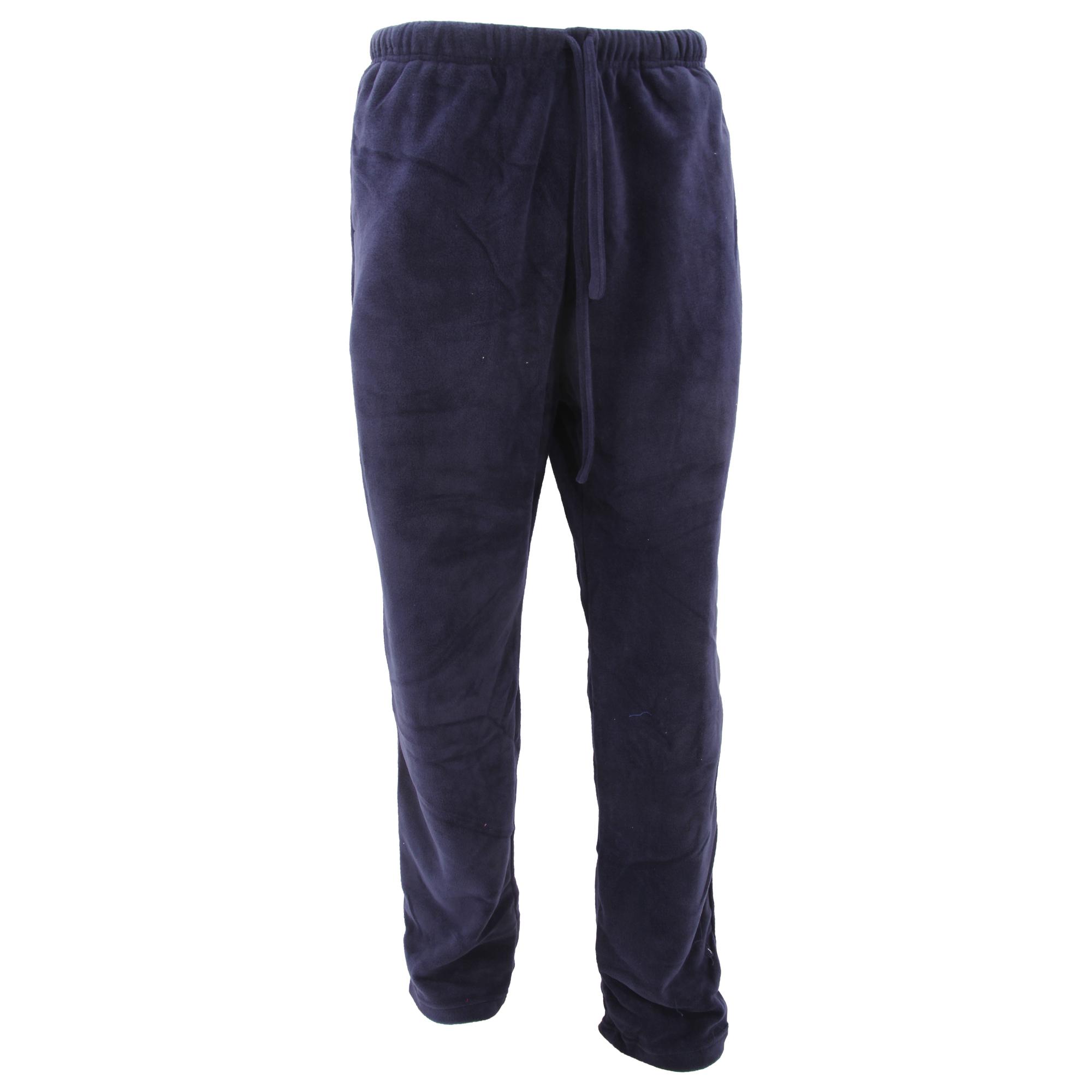Mens Plain Fleece Pajama Bottoms/Lounge Pants
