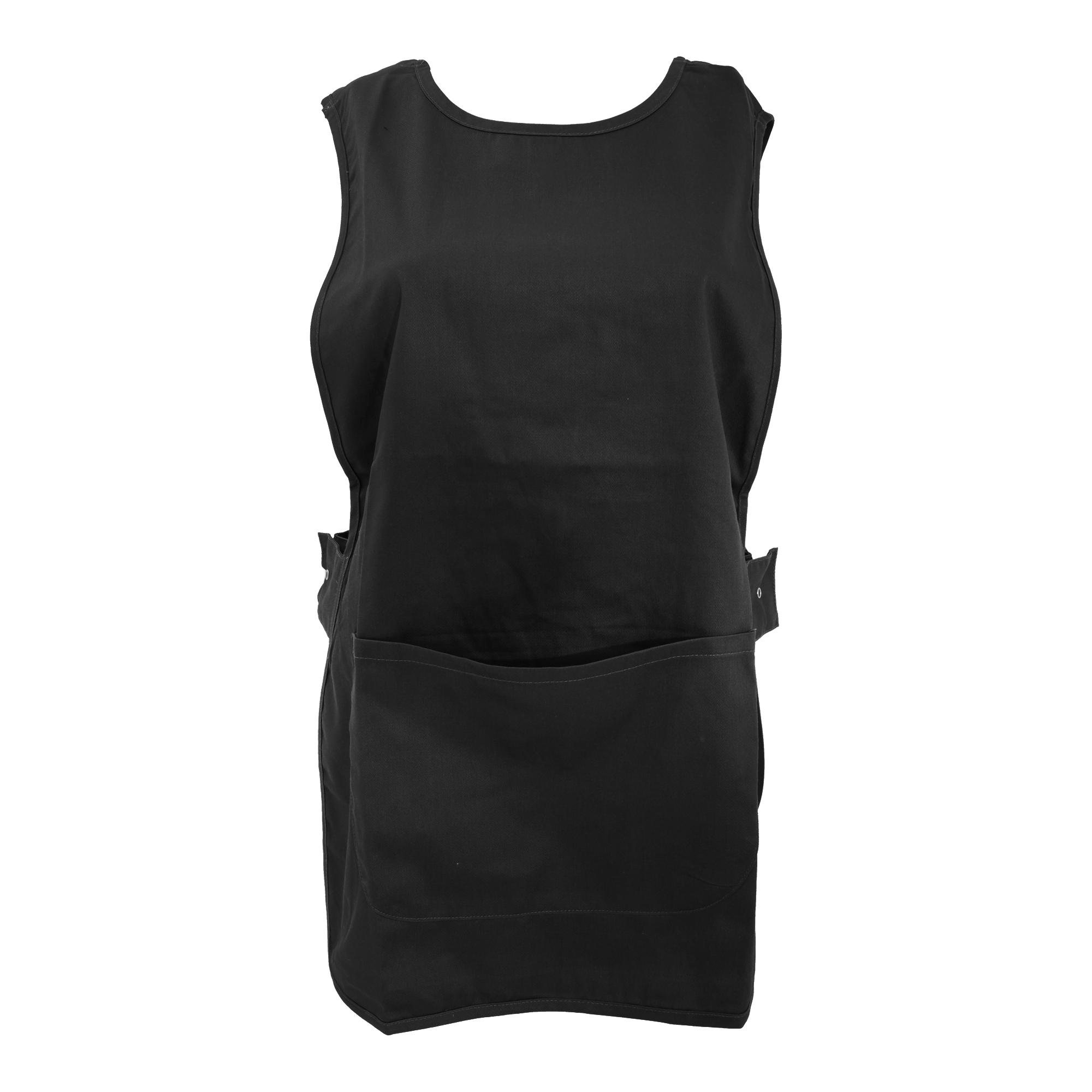 White tabard apron - Davern Mens Womens Pocket Workwear Plain Work Apron