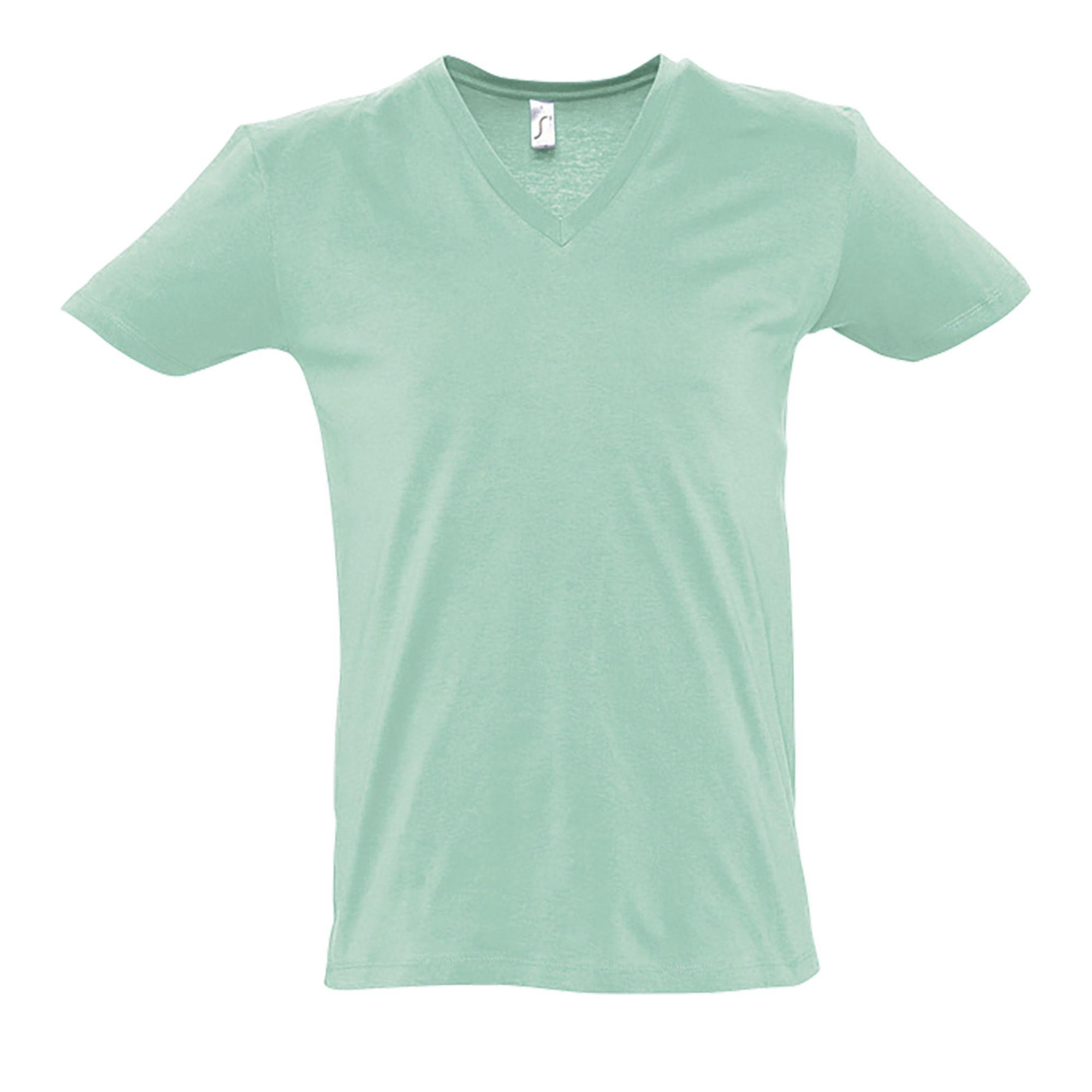 SOLS-Camiseta-de-manga-corta-con-cuello-de-pico-o-V-para-hombre-Modelo-Master