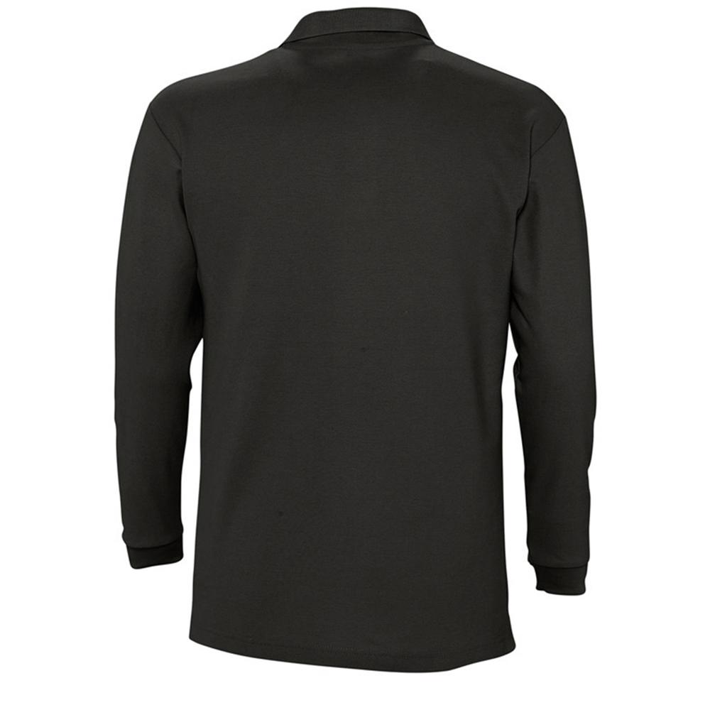 Sols mens winter ii long sleeve pique cotton polo shirt in for Mens long sleeve pique polo shirts
