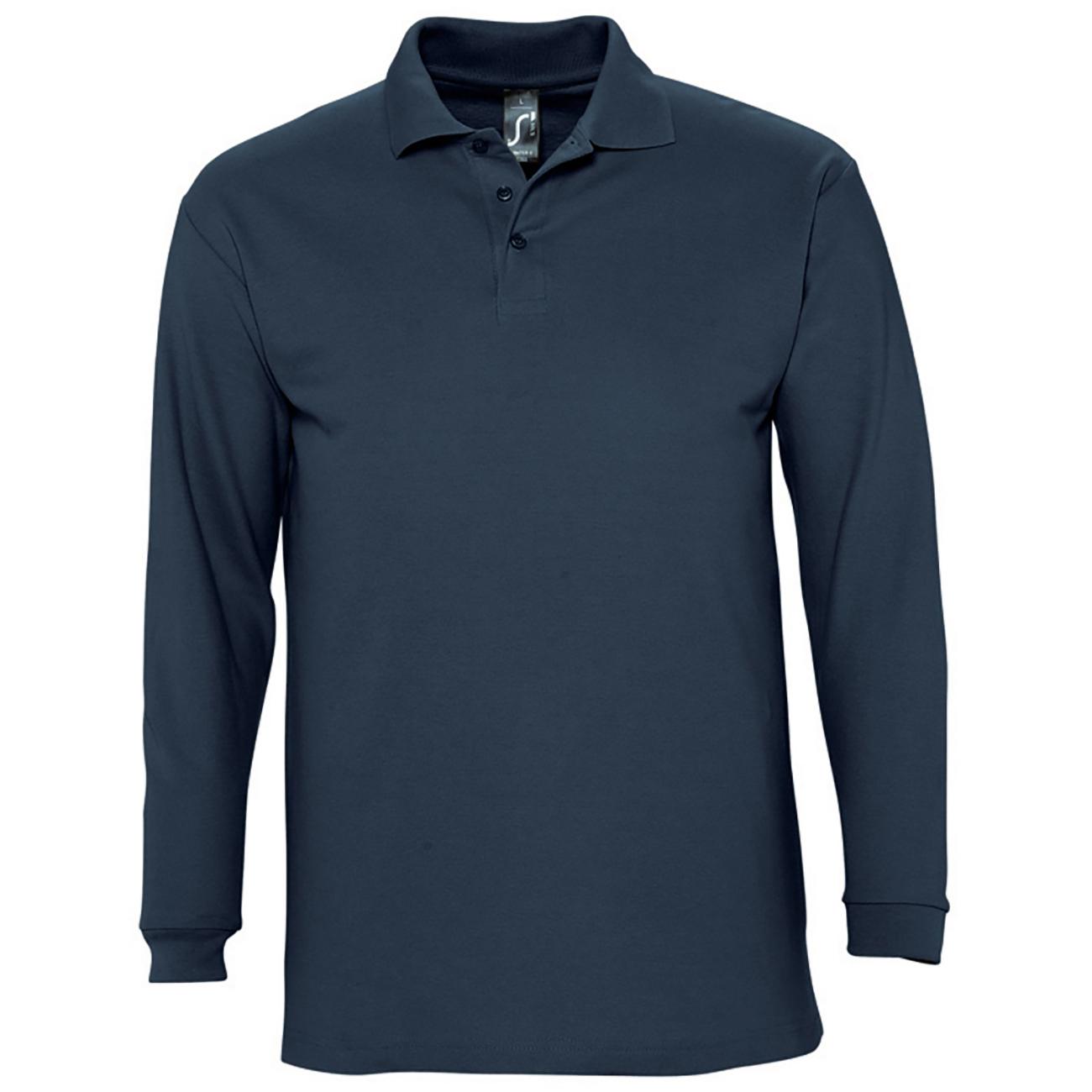 Sols mens winter ii long sleeve pique cotton polo shirt ebay for Mens long sleeve pique polo shirts