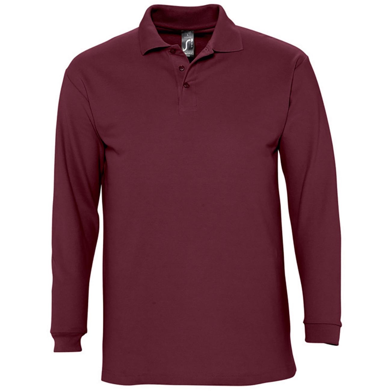 sols mens winter ii long sleeve pique cotton casual plain