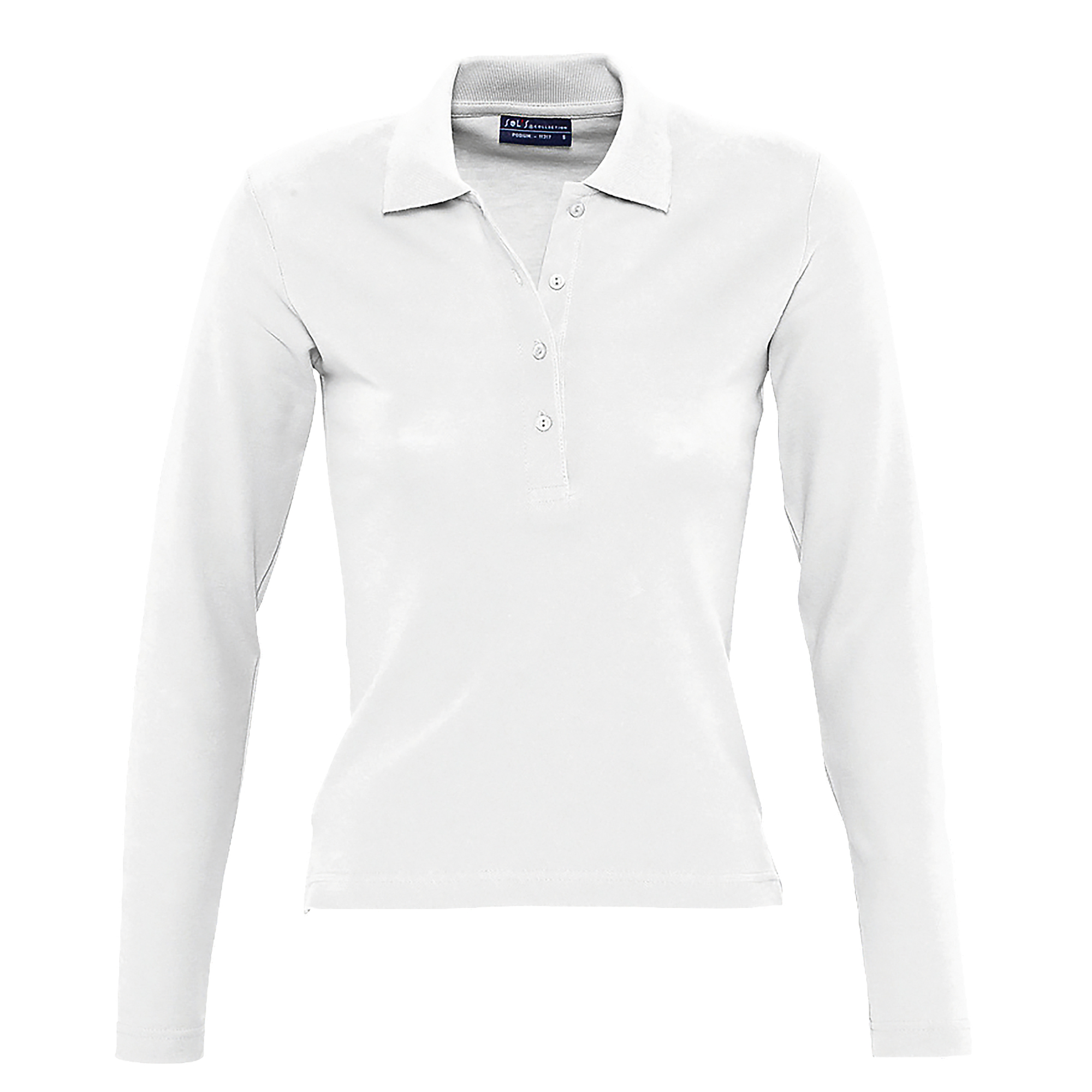 Sols Womens Ladies Podium Long Sleeve Pique Cotton Polo Shirt
