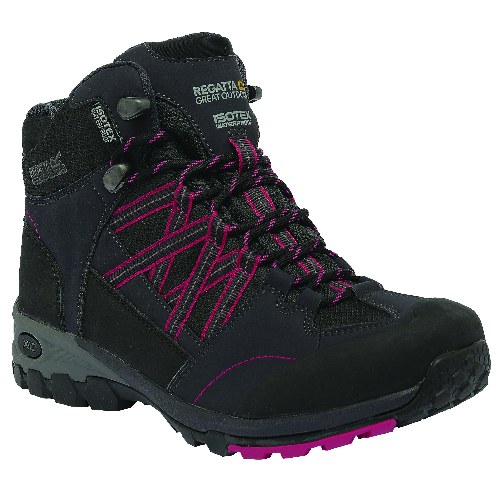 Popular Womens NorthWest WaterProof Leather Lace Up Walking Hiking Boots UK Sizes 3 To 8 | EBay