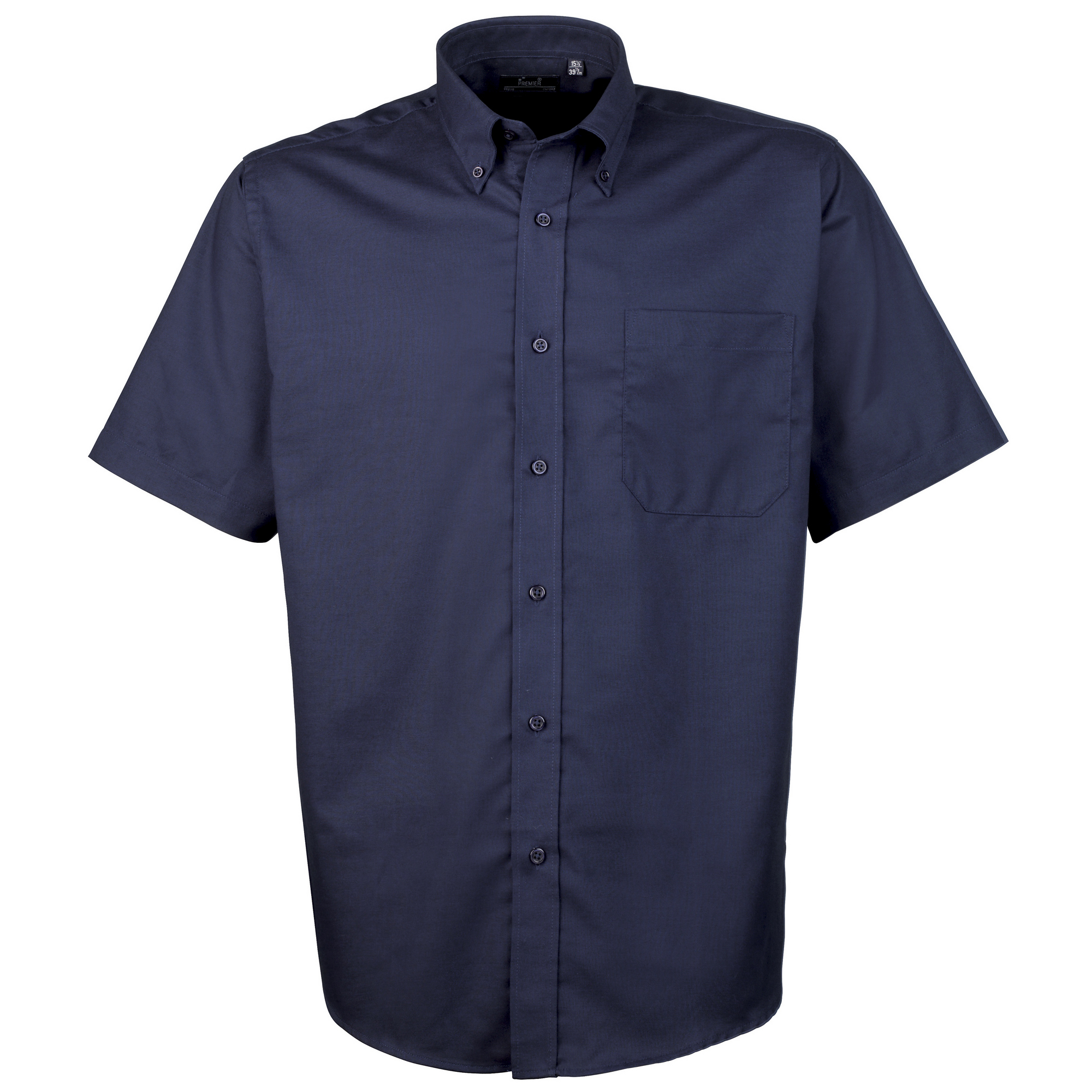 Premier mens short sleeve oxford plain work shirt ebay for Mens short sleeve oxford shirt