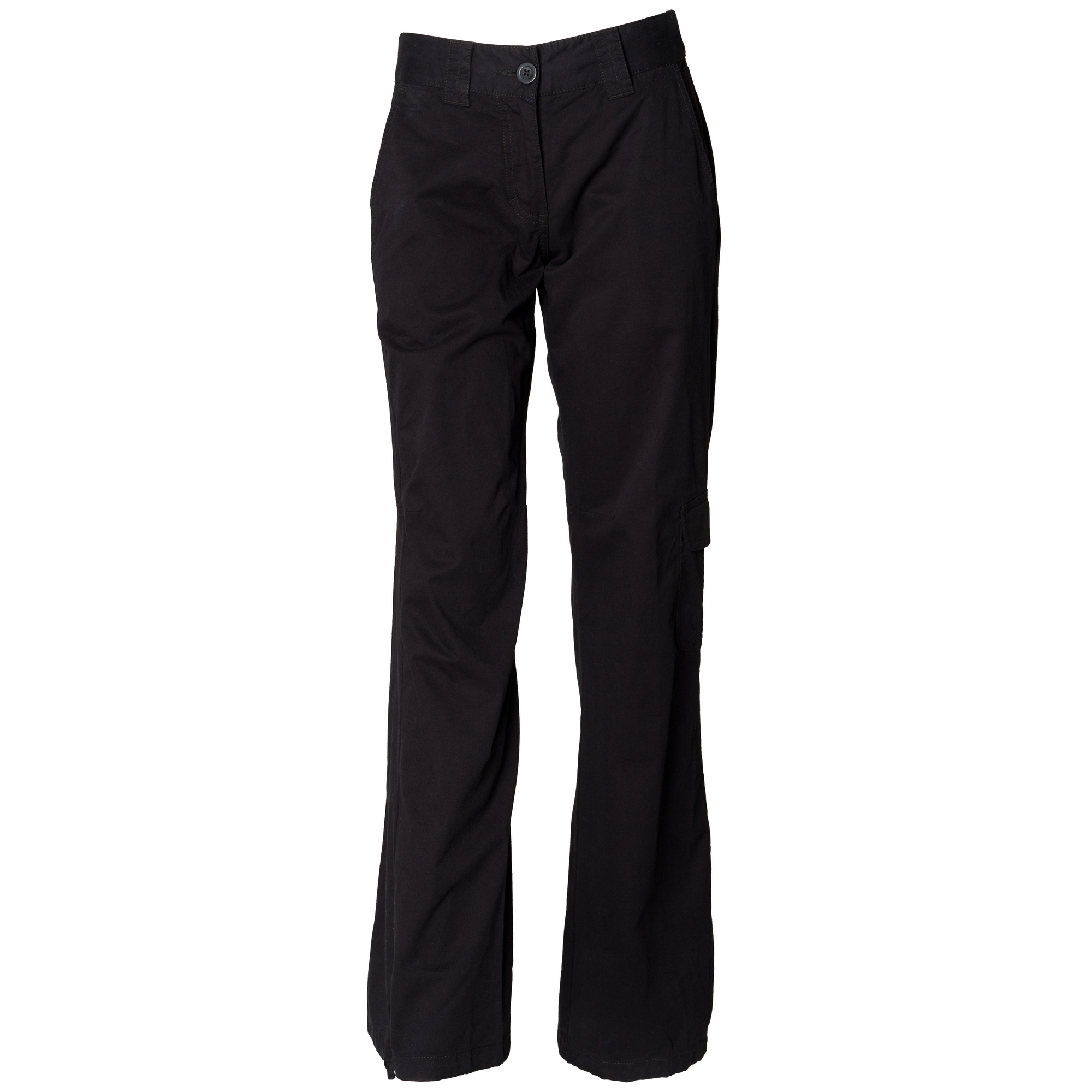 Skinni-Fit-Womens-Ladies-100-Cotton-Cargo-Trousers-Black-Sand-S-M-L