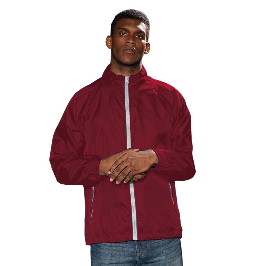 RW2501 2786 Mens Contrast Lightweight Windcheater Shower Proof Jacket//Coat