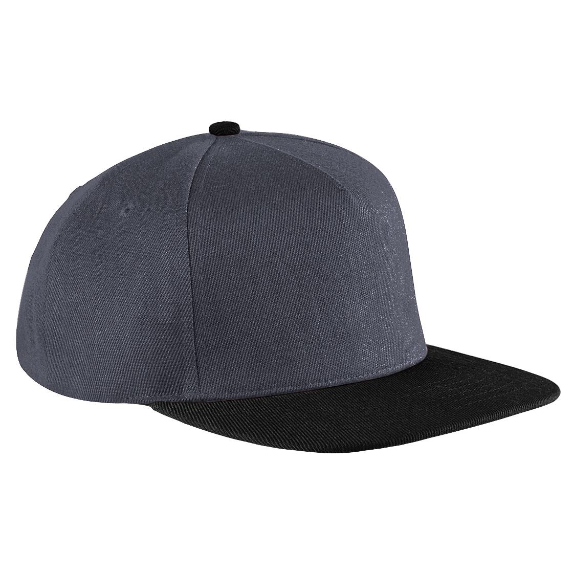 beechfield unisex original retro flat peak snapback hat