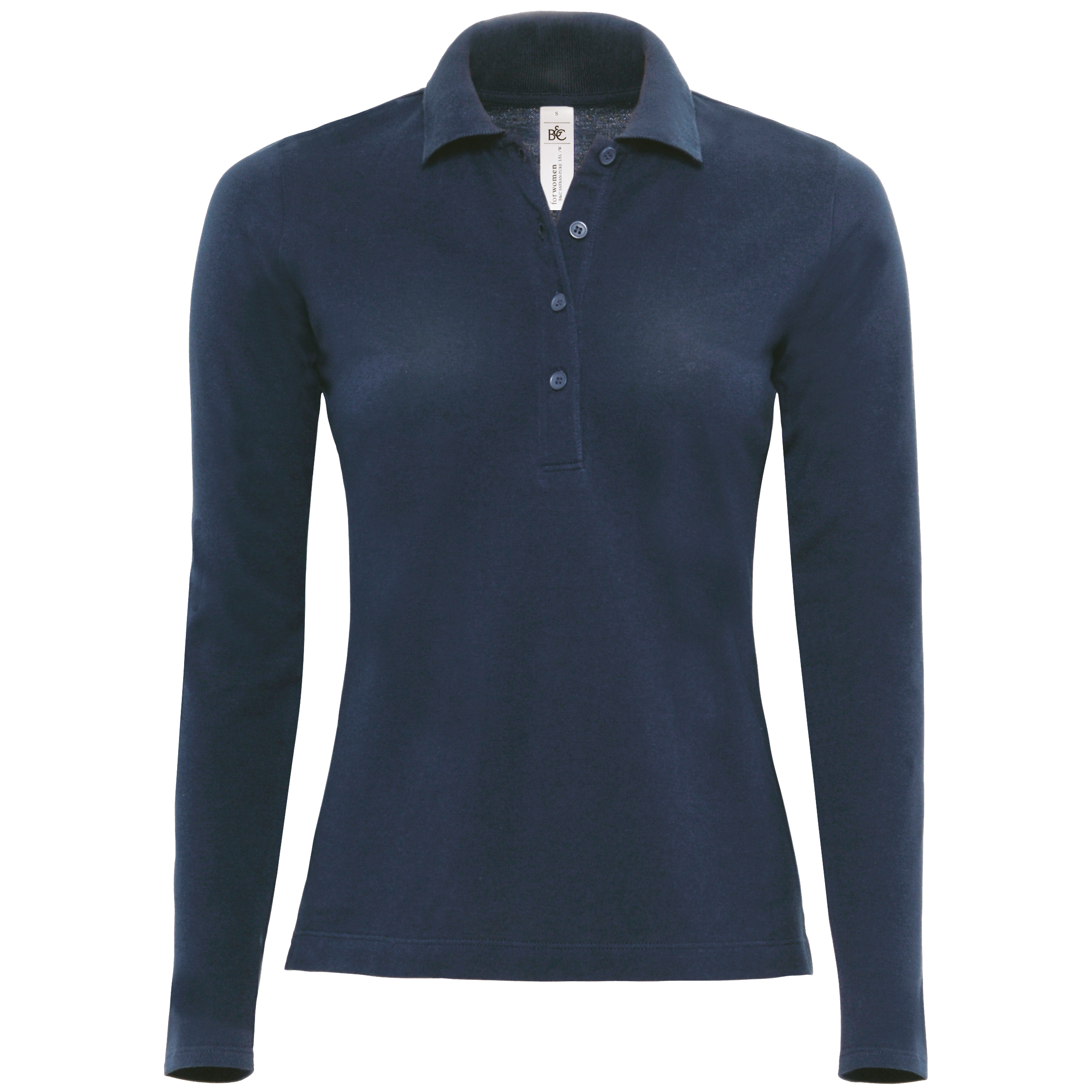 B C Womens Ladies Safran Long Sleeve Polo Shirt Top 5
