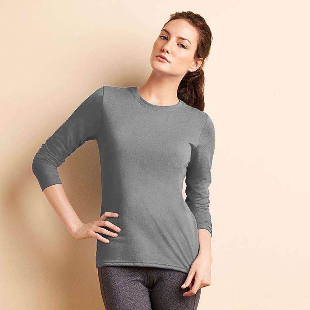 gildan womens ladies performance freshcare long sleeve t shirt