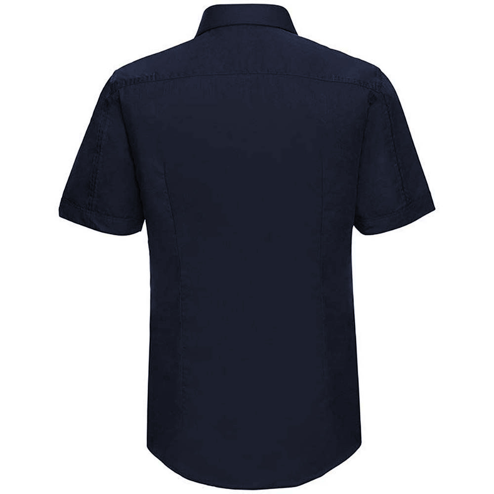 Russell collection mens short sleeve tencel easy care for Fitted shirts for mens