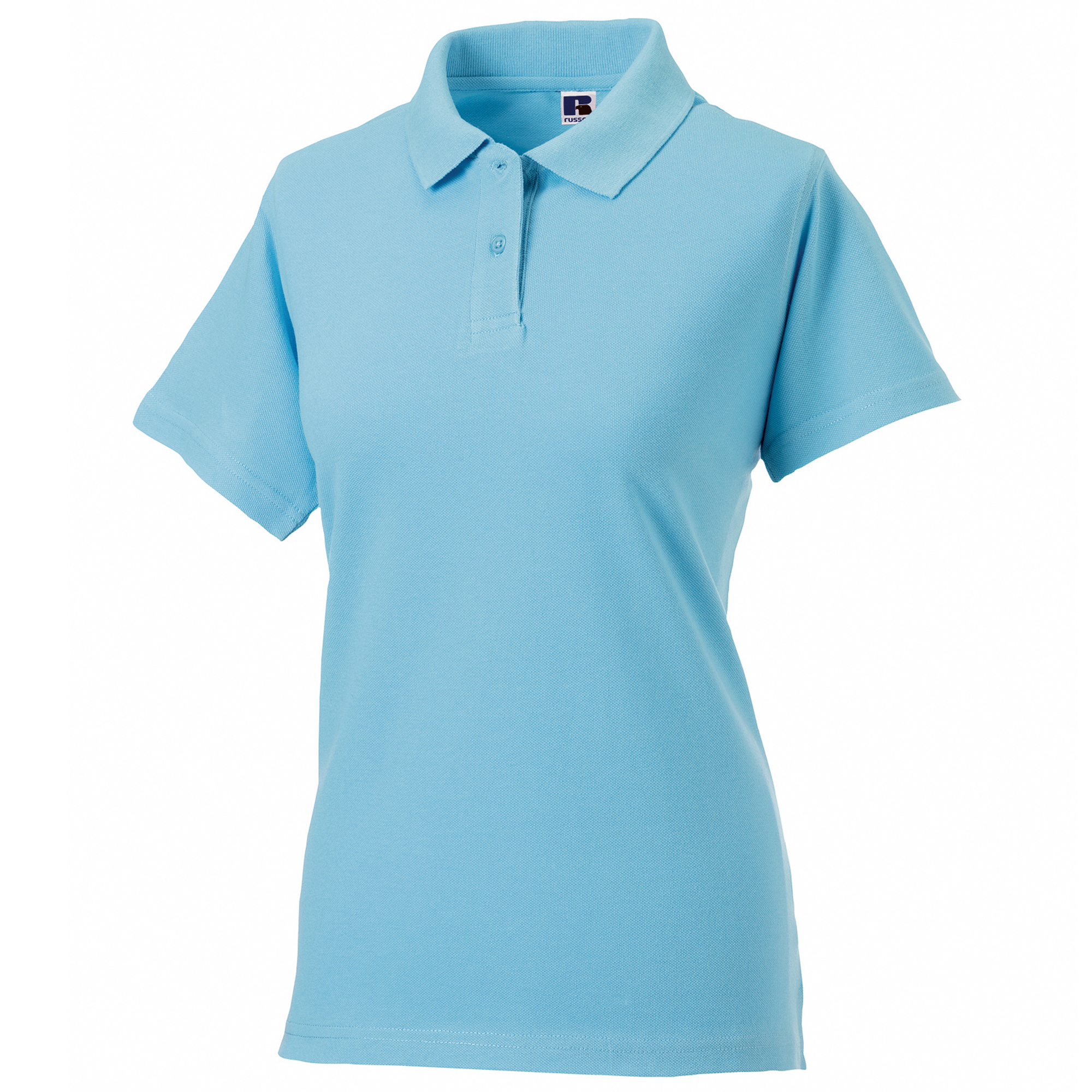 Russell europe womens ladies classic cotton short sleeve for Women s long sleeve polo shirts sale