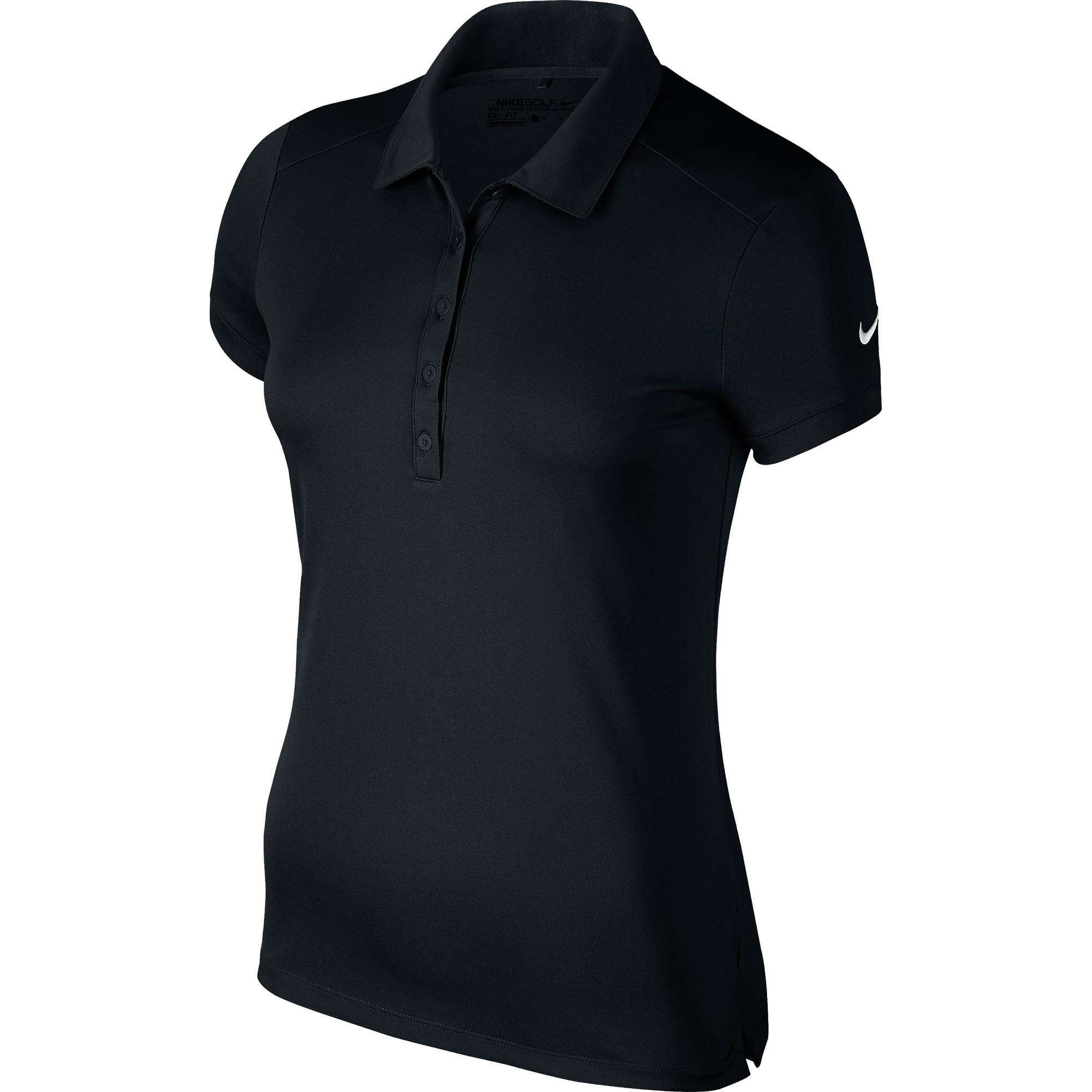 Nike womens ladies victory short sleeve solid polo shirt for Nike cotton golf shirts