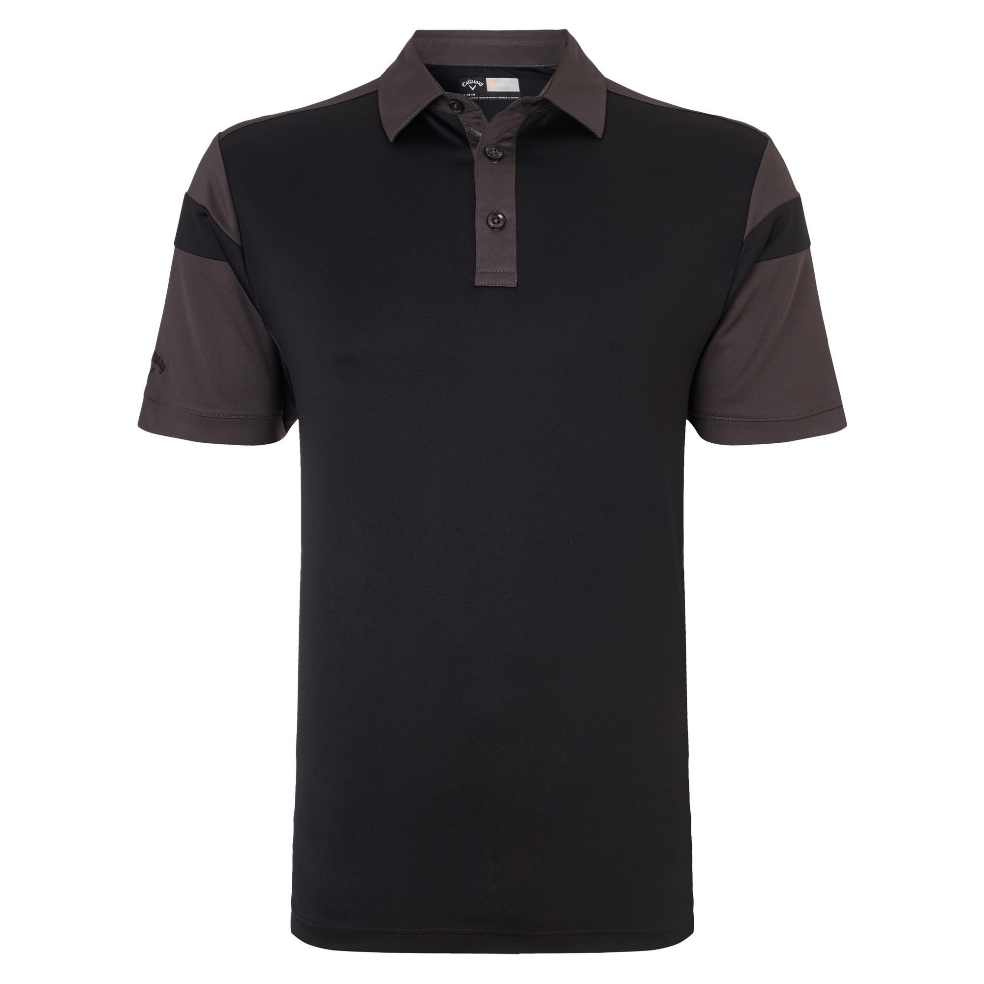 Callaway mens chev blocked moisture wicking short sleeve for Moisture wicking golf shirts