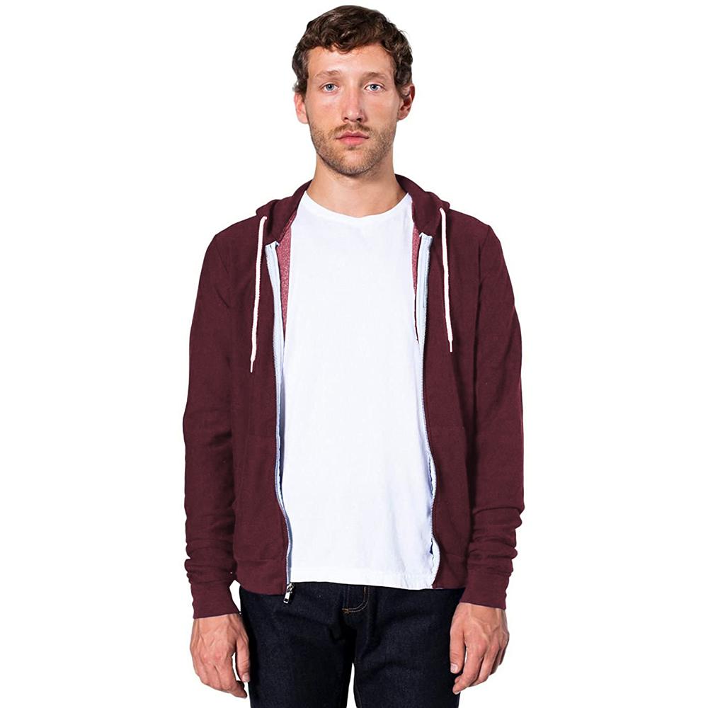 American apparel zip hoodie