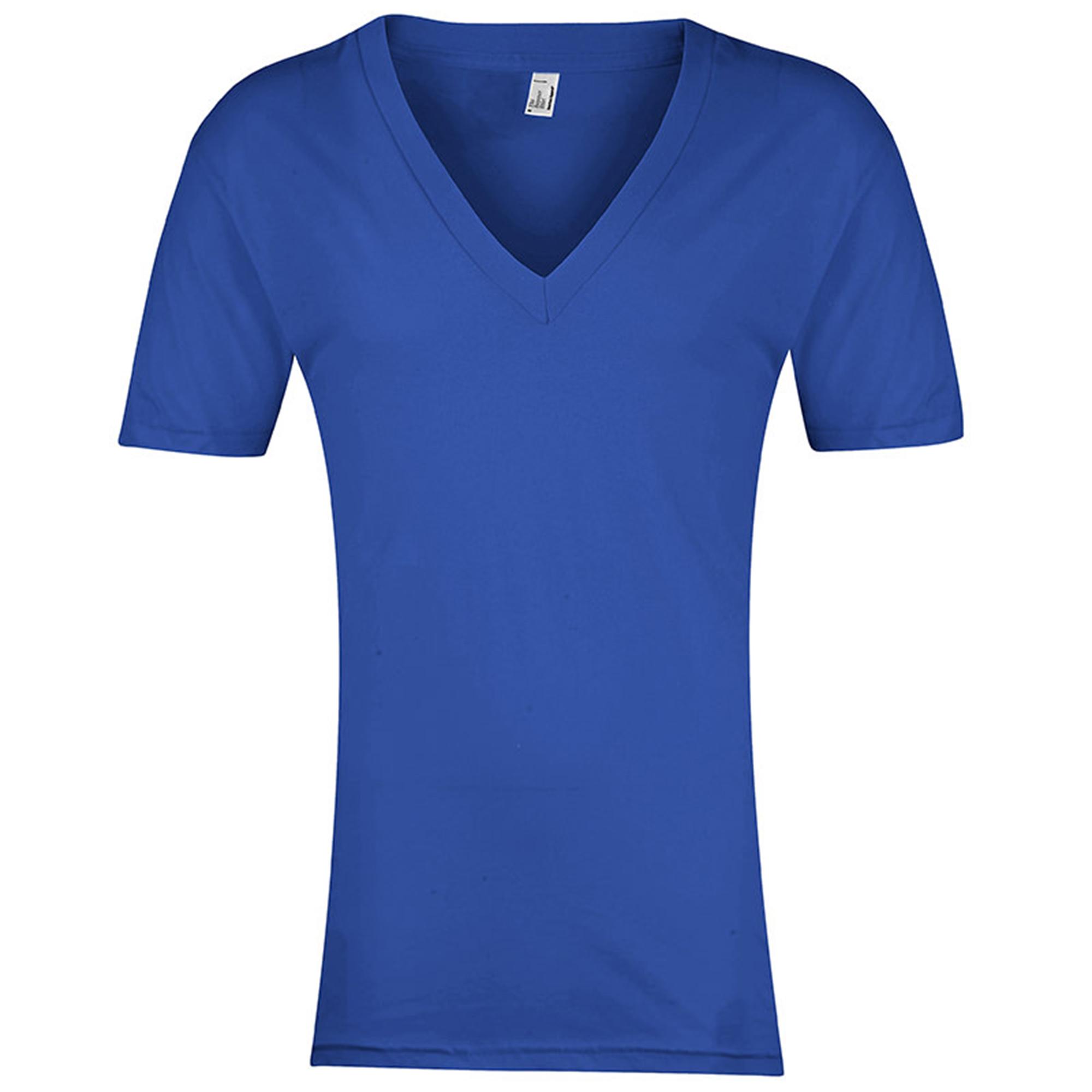 American apparel mens womens short sleeve deep v neck t for Short t shirt men