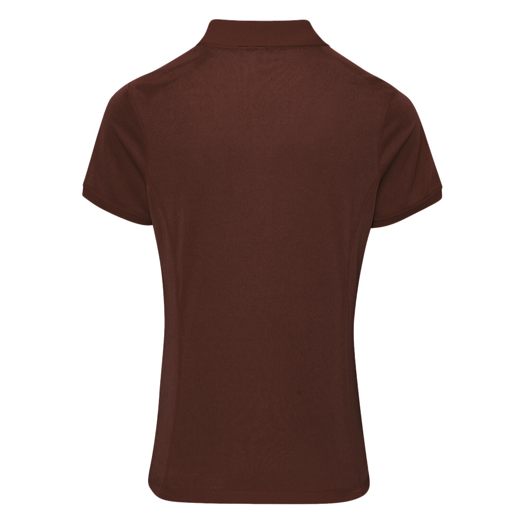 Premier Womens/Ladies Coolchecker Short Sleeve Pique Polo ...