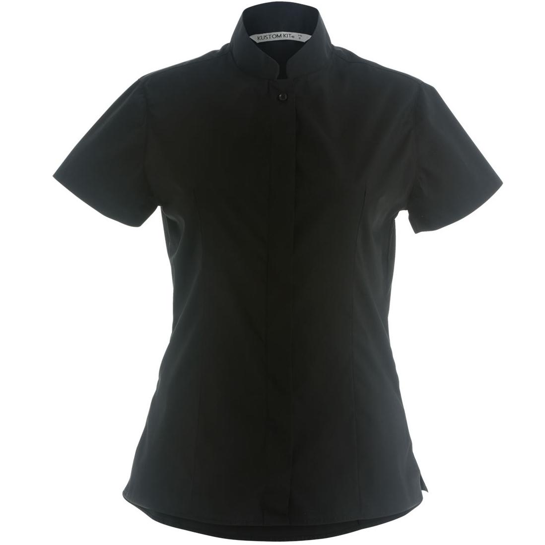 kustom kit damen hemd bluse mit stehkragen kurzarm ebay. Black Bedroom Furniture Sets. Home Design Ideas