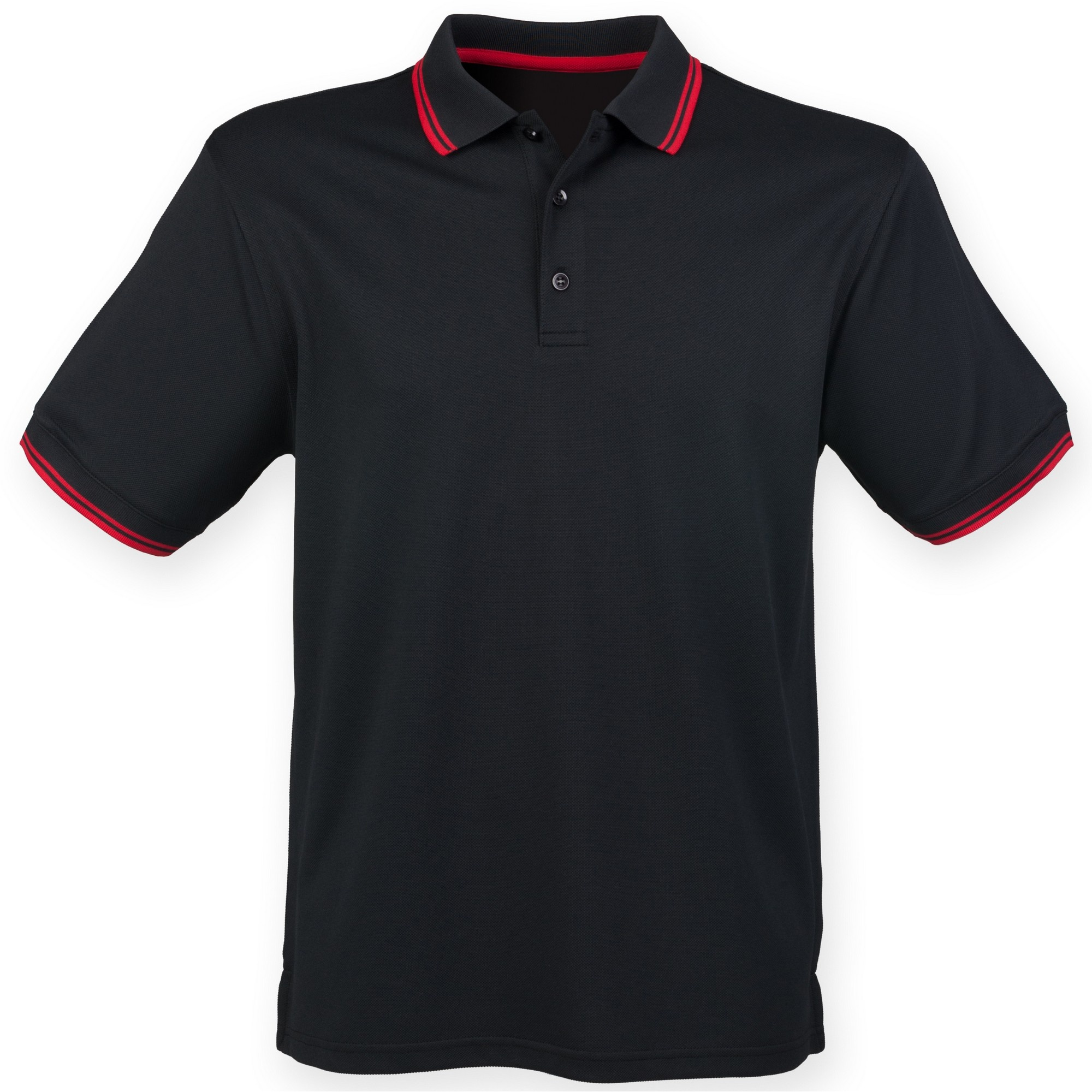 Henbury mens coolplus moisture wicking short sleeve polo shirt for Mens moisture wicking sleeveless shirts