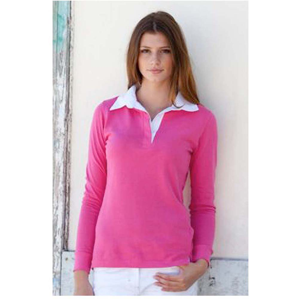front row womens ladies long sleeve plain sports rugby