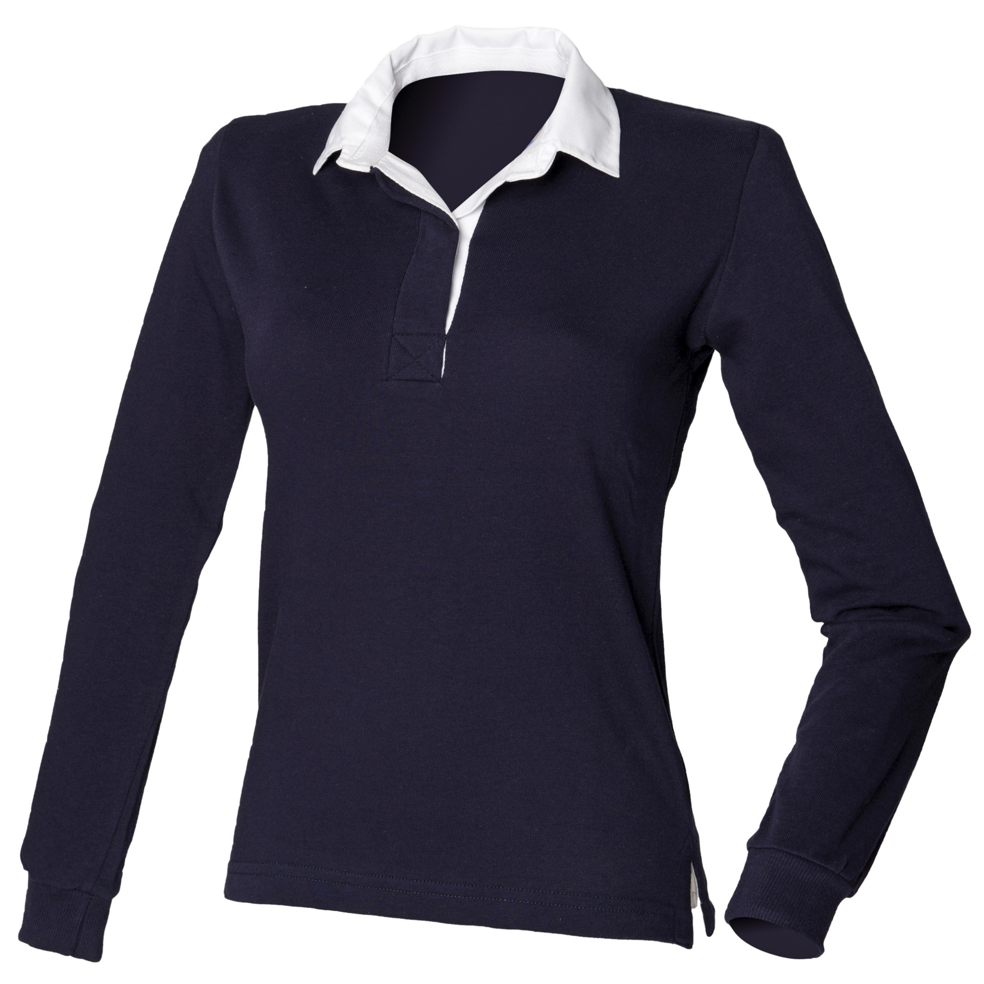 Front Row Womens Ladies Long Sleeve Original Rugby Shirt