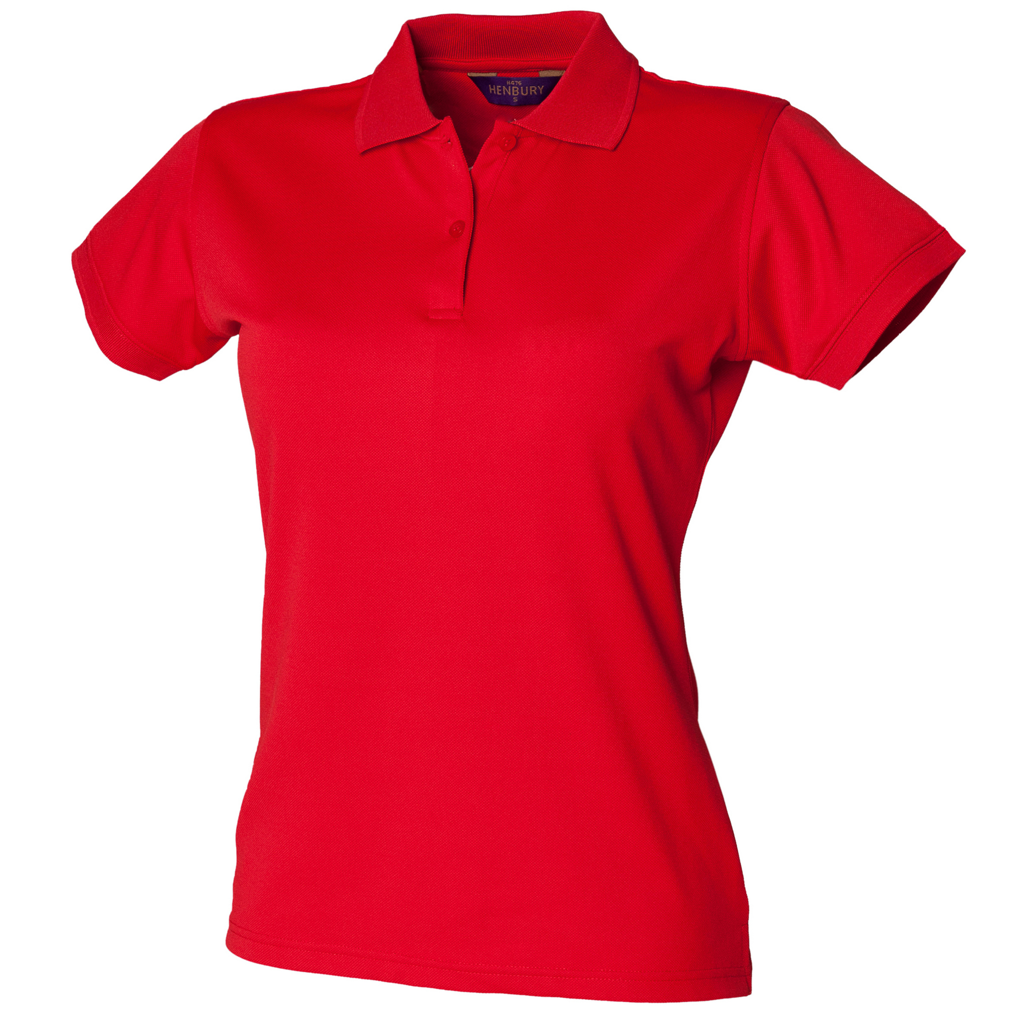 henbury womens ladies coolplus fitted polo shirt ebay. Black Bedroom Furniture Sets. Home Design Ideas