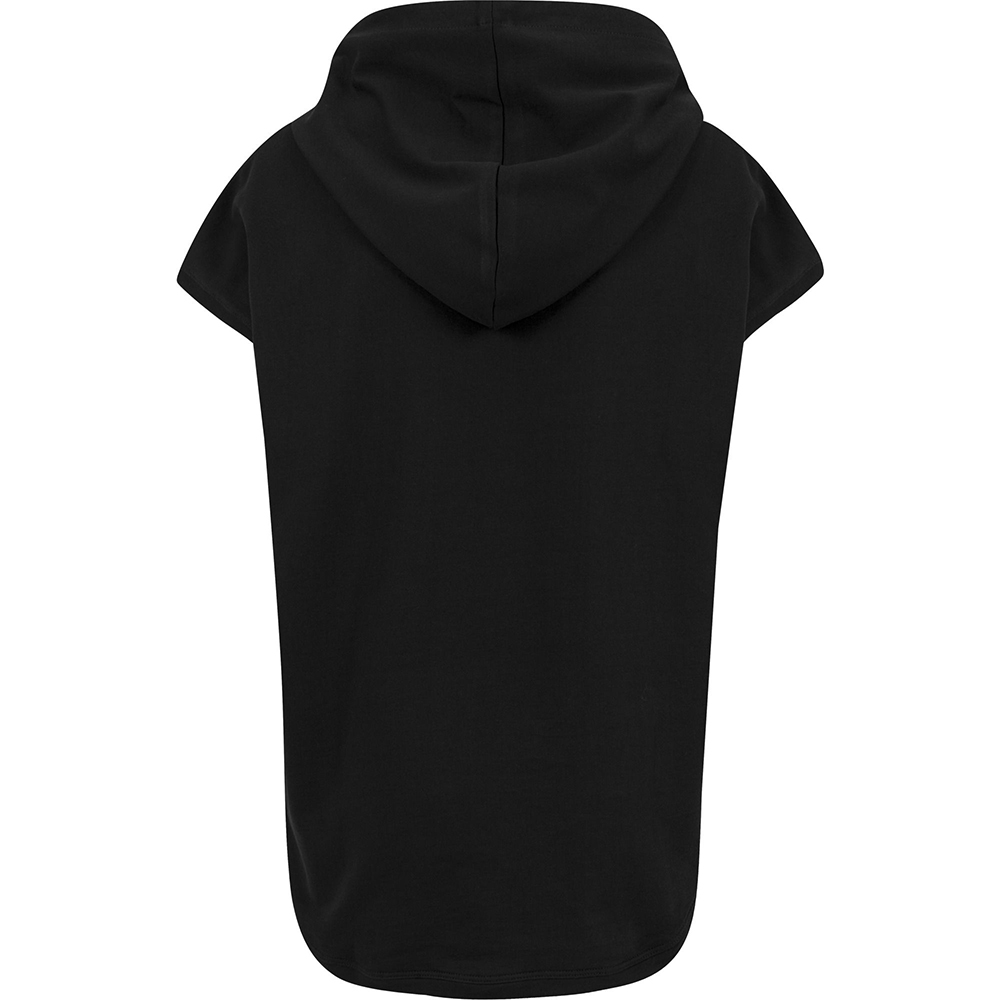 Build Your Brand Womens//Ladies Short Sleeve Hoodie RW6478