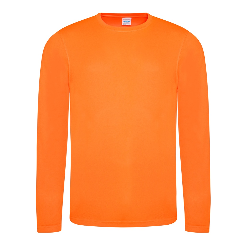 just cool mens long sleeve cool sports performance plain t