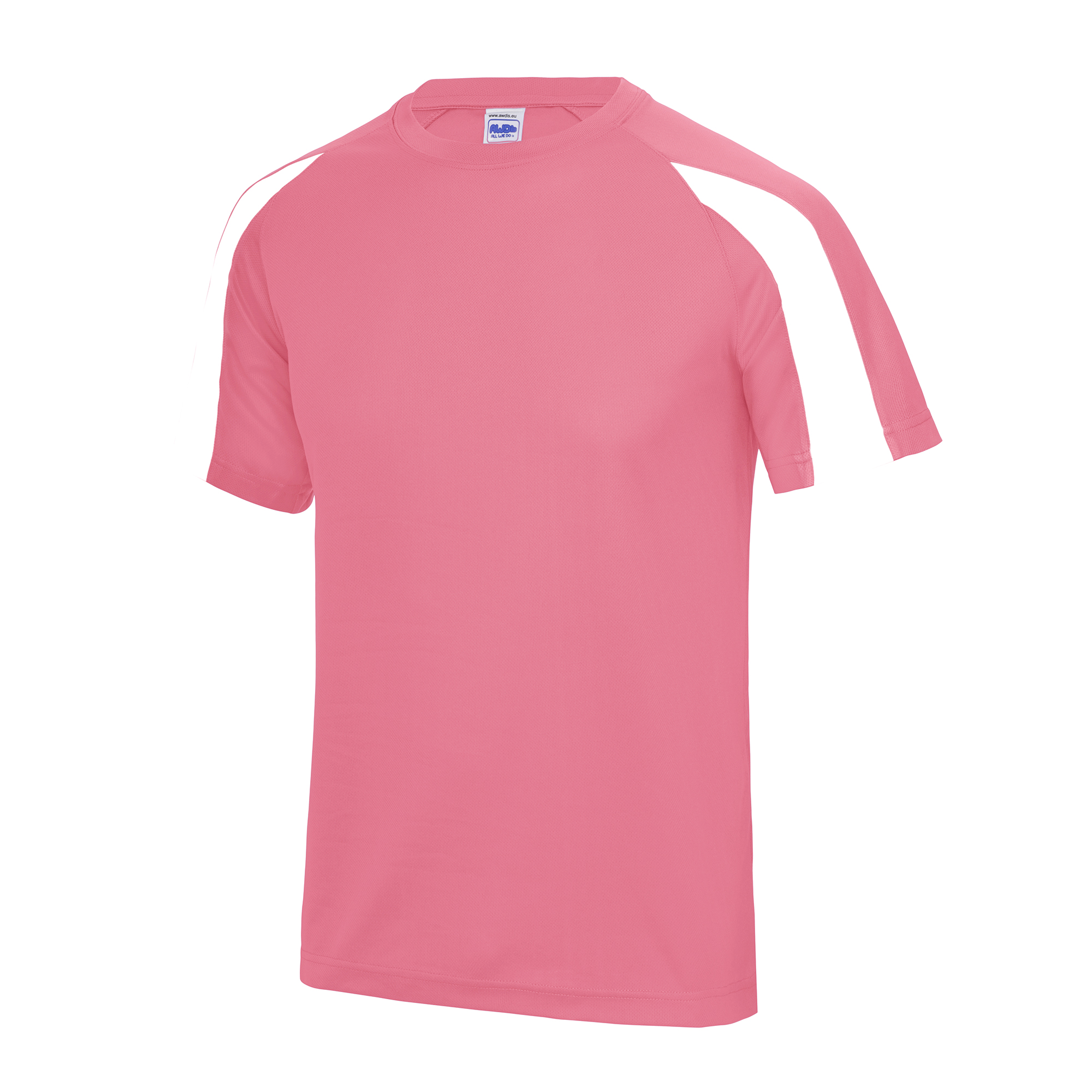 Just Cool Mens Contrast Sports Gym Plain T-Shirt 15 Colours Szs S-2XL RW685