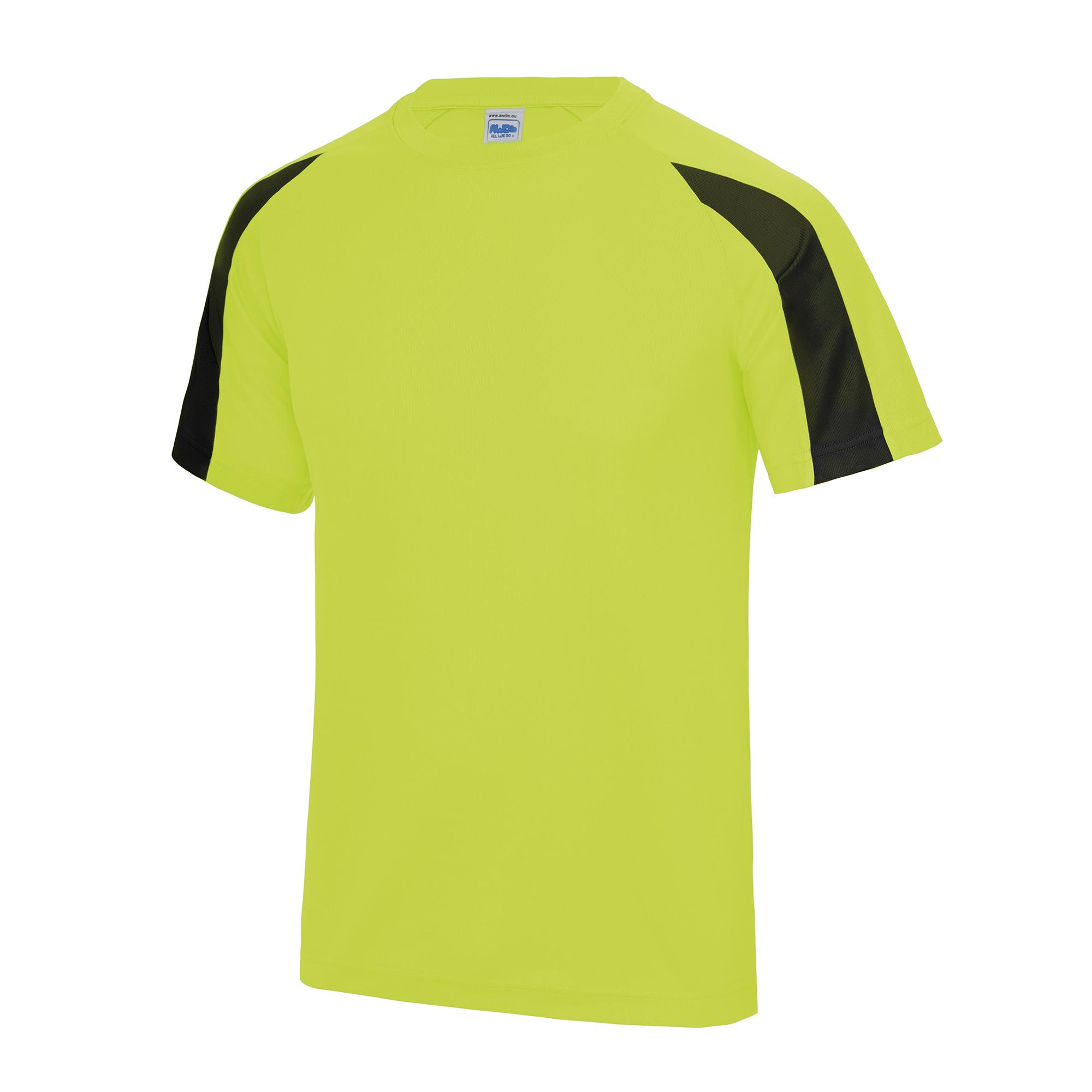 Just Cool Mens Contrast Cool Sports Plain T Shirt