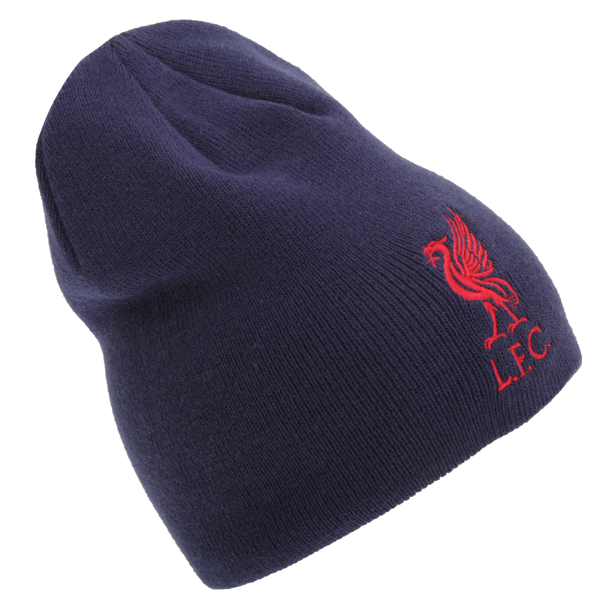 Liverpool Fc Mens Official Embroidered Football Crest Beanie Hat