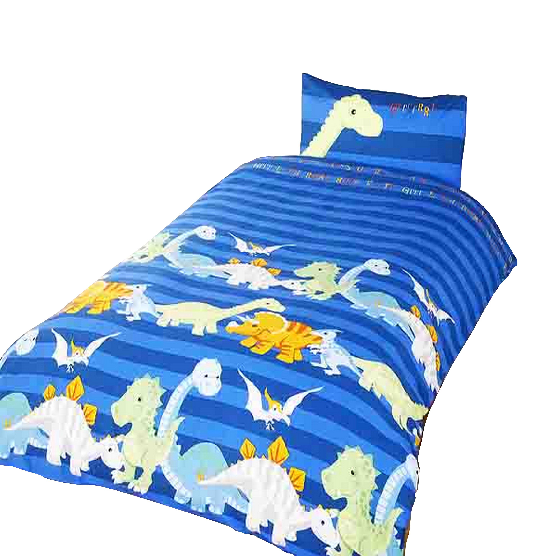 Completo copri piumone letto singolo con dinosauri bambini ebay - Lenzuola letto singolo bambino ...