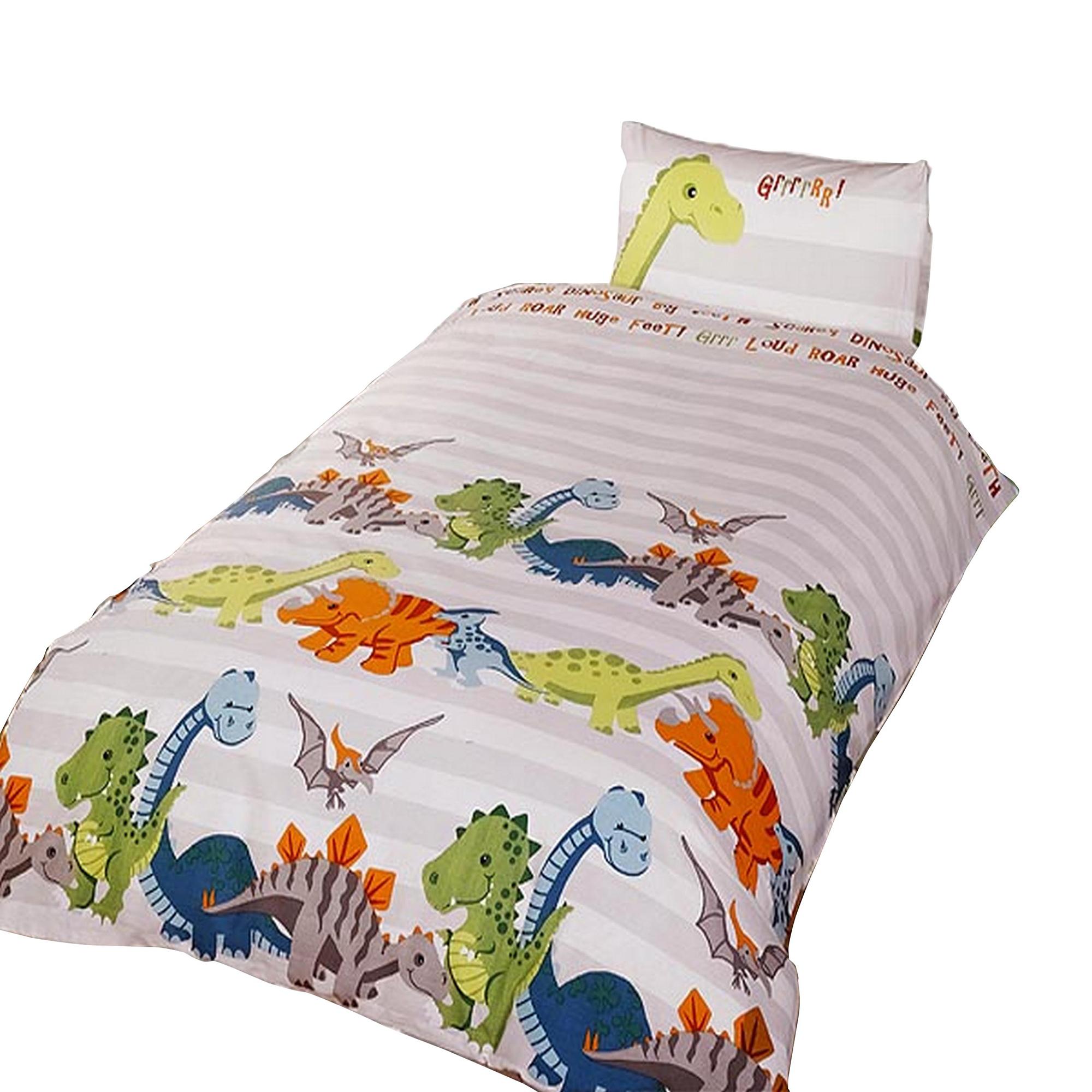 completo copri piumone letto singolo con dinosauri bambini ebay. Black Bedroom Furniture Sets. Home Design Ideas