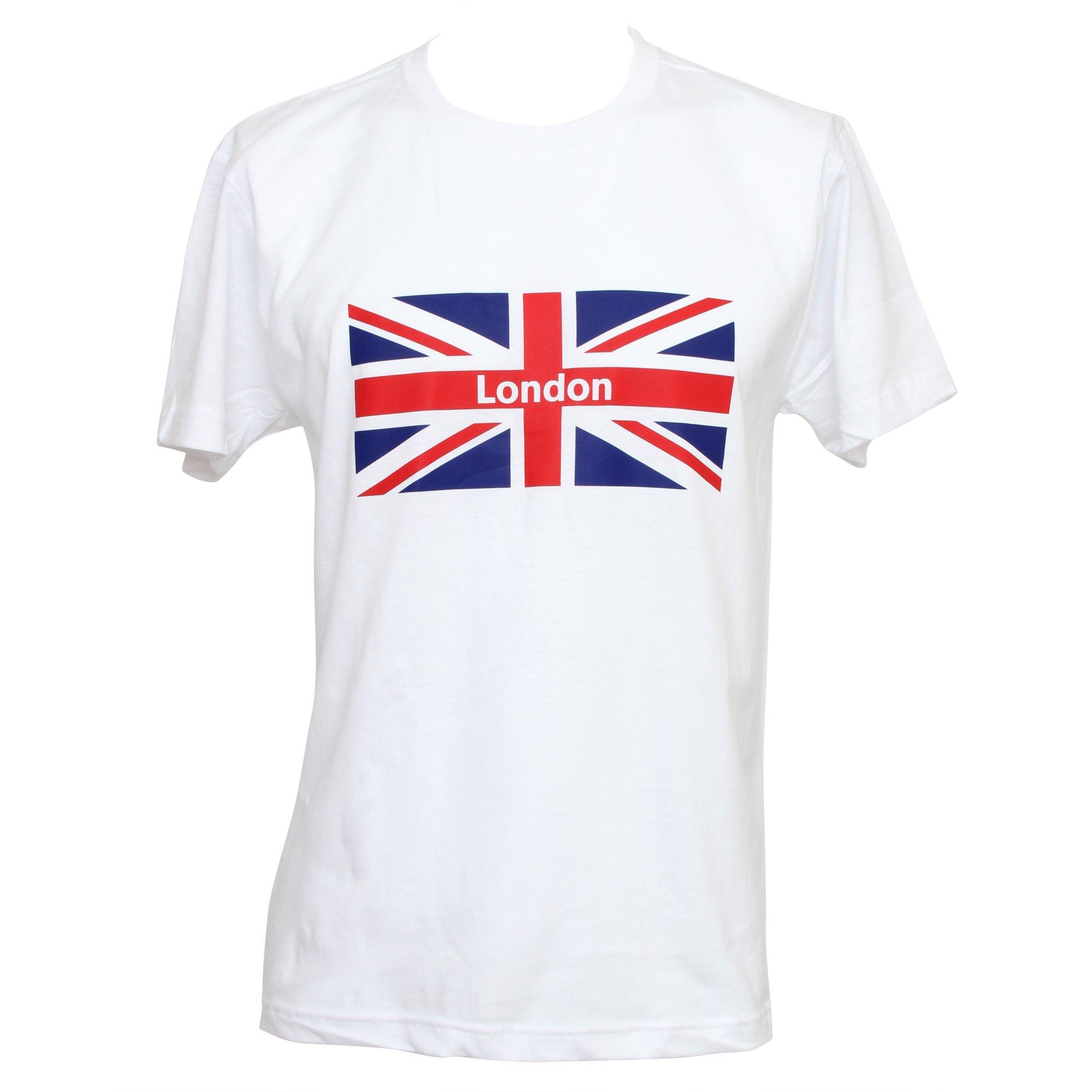 Mens London Union Jack Print Short Sleeve T Shirt Top Ebay