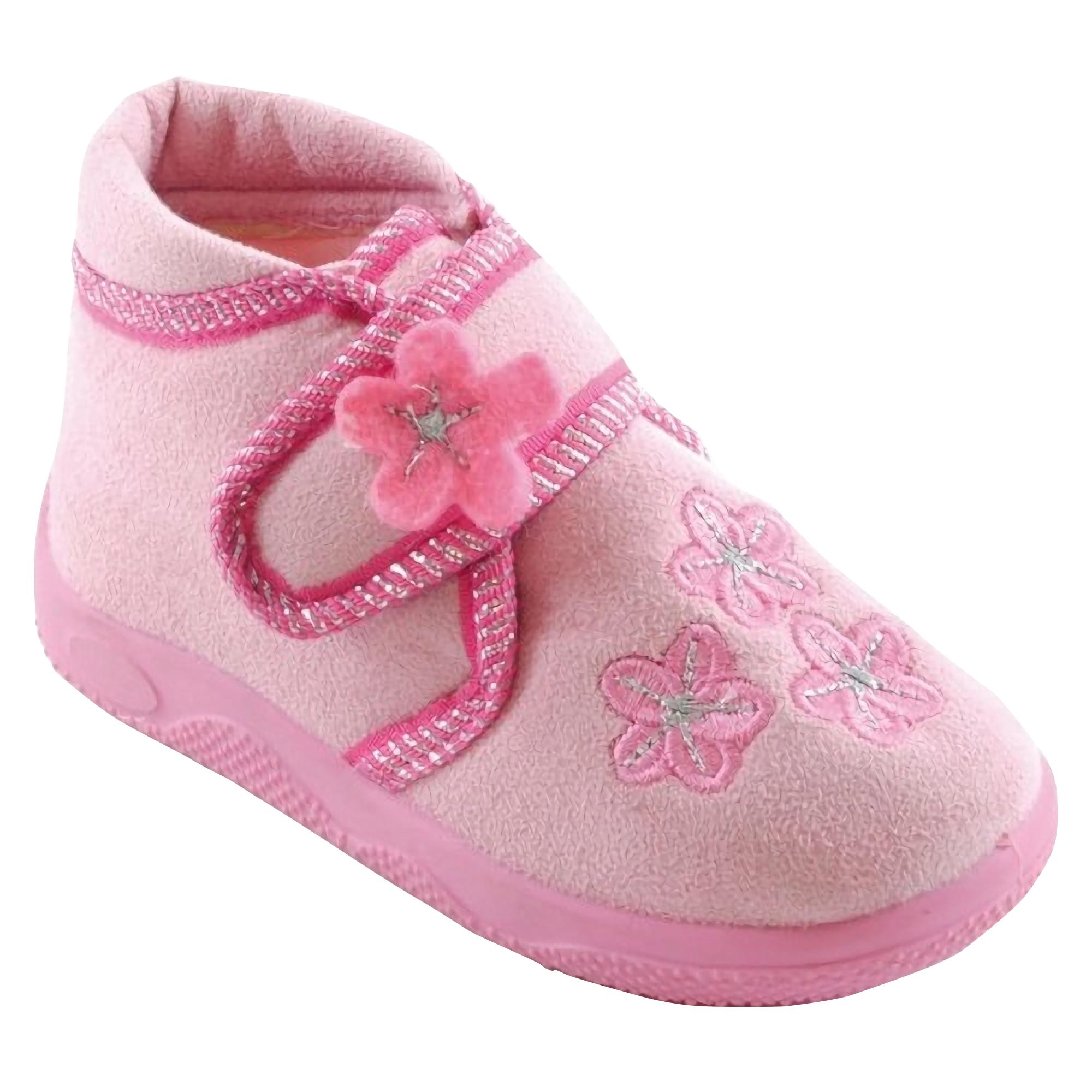 Zapatillas de estar por casa con cierre de y estampado - Zapatillas de estar en casa de nina ...