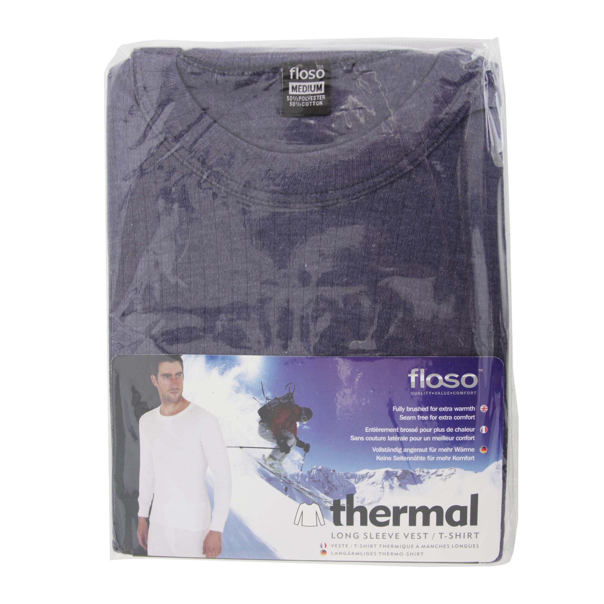Floso mens thermal underwear long sleeve t shirt top for Thermal t shirt long sleeve