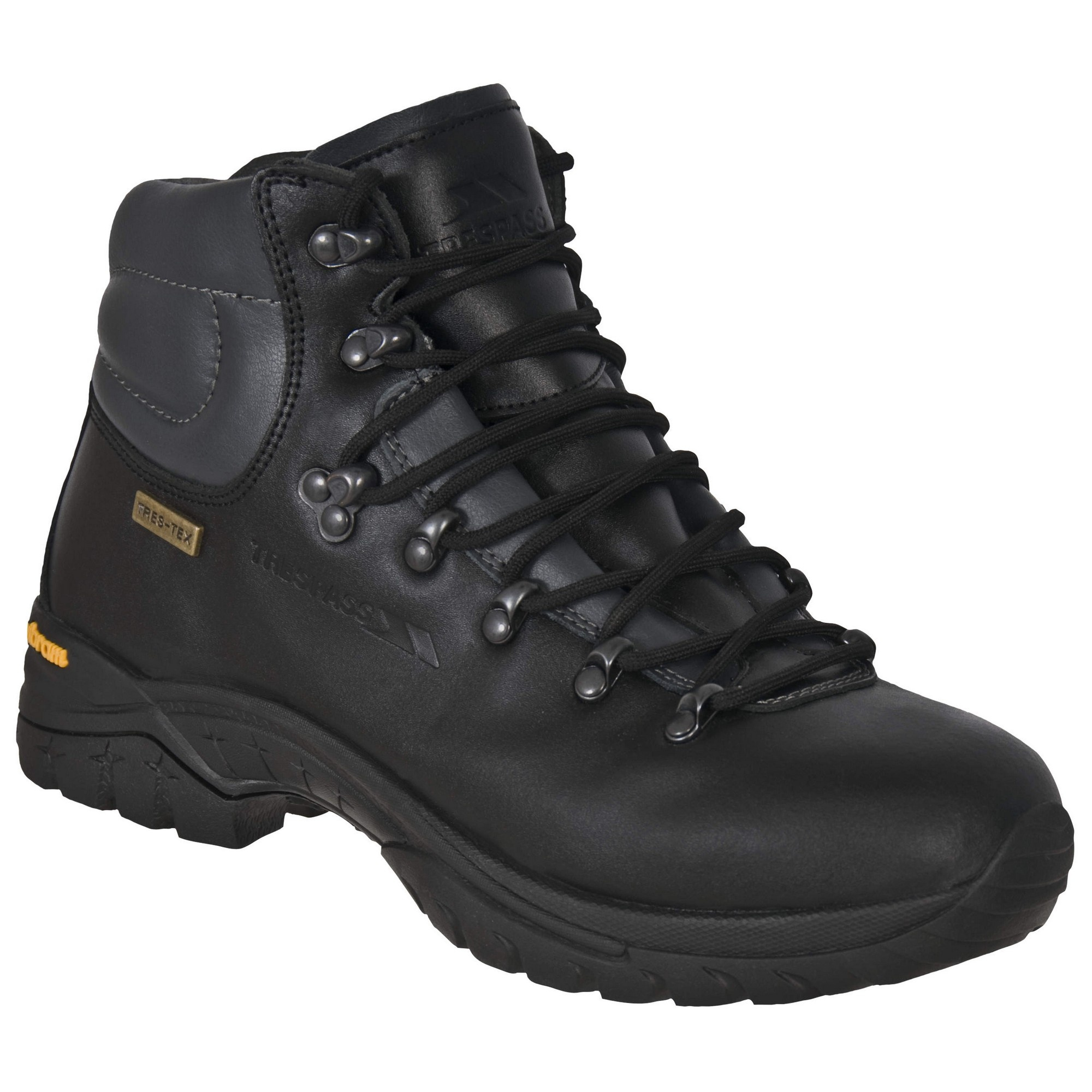 trespass mens walker waterproof leather walking boots ebay